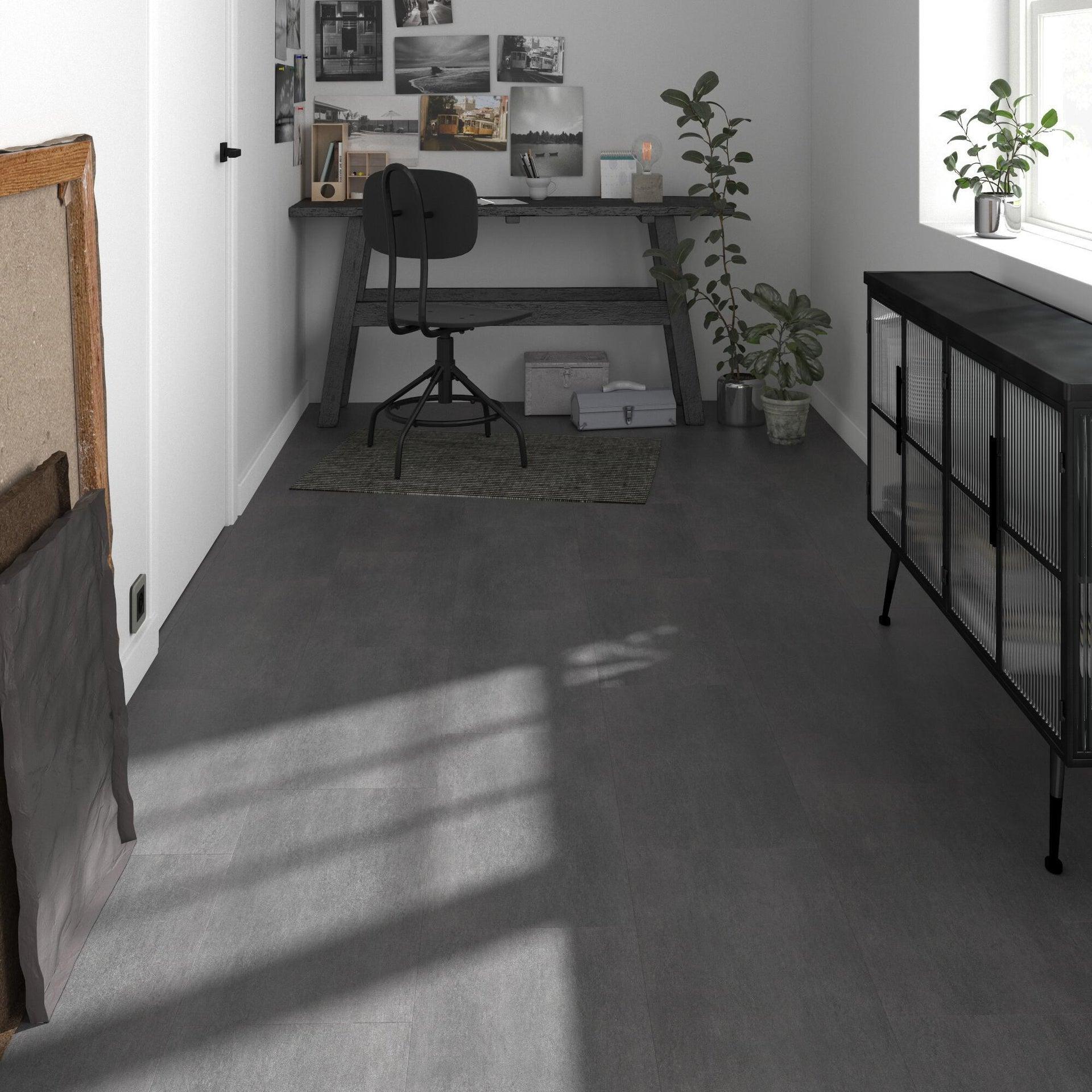 Pavimento PVC flottante clic+ Art For New Sp 4.2 mm nero - 2