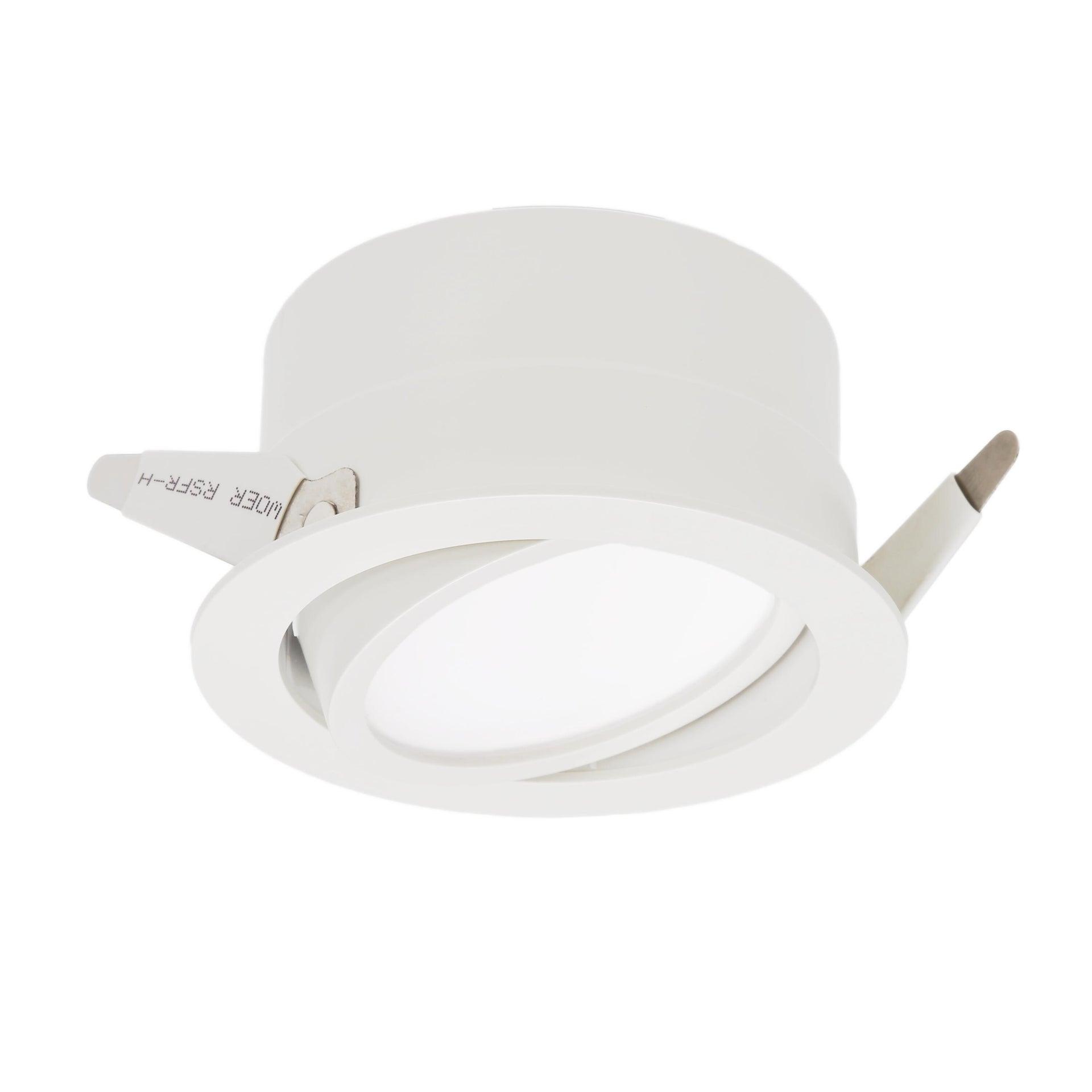 Faretto orientabile da incasso tondo Ori Lindi bianco, diam. 9 cm LED integrato 6.3W 550LM IP65 INSPIRE - 10