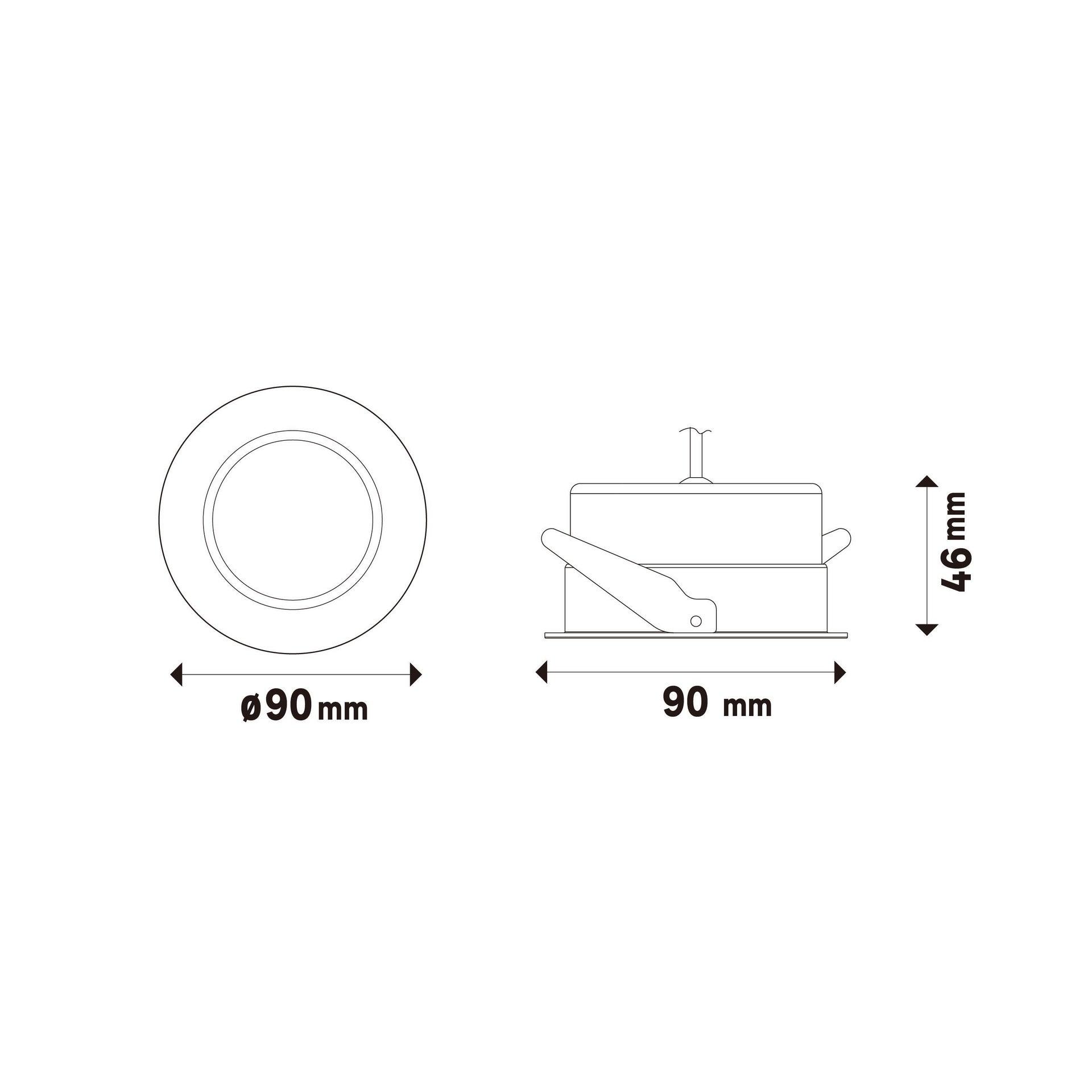 Faretto orientabile da incasso tondo Ori Lindi bianco, diam. 9 cm LED integrato 6.3W 550LM IP65 INSPIRE - 9