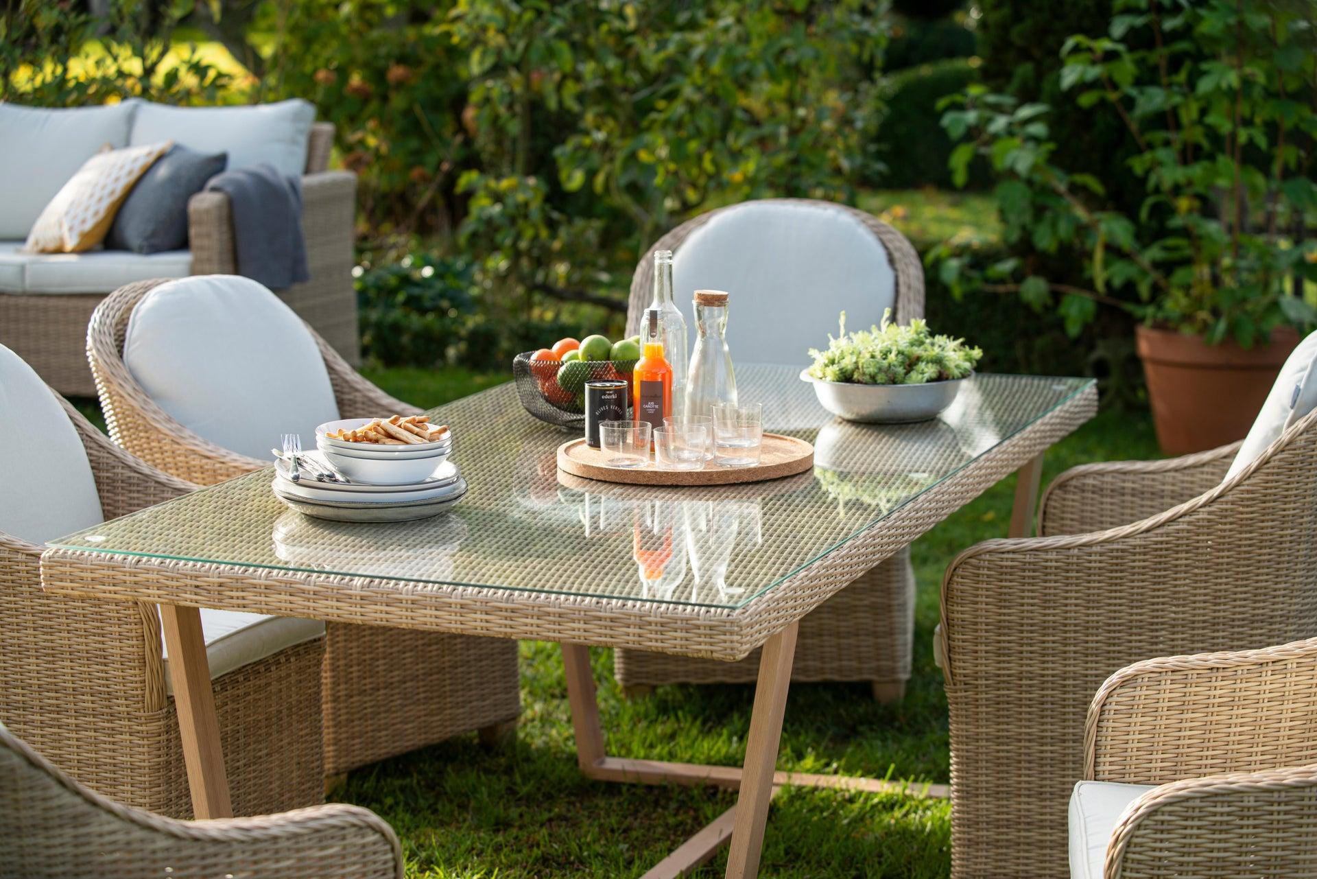 Poltrona da giardino con cuscino in alluminio Medena NATERIAL colore naturale - 5