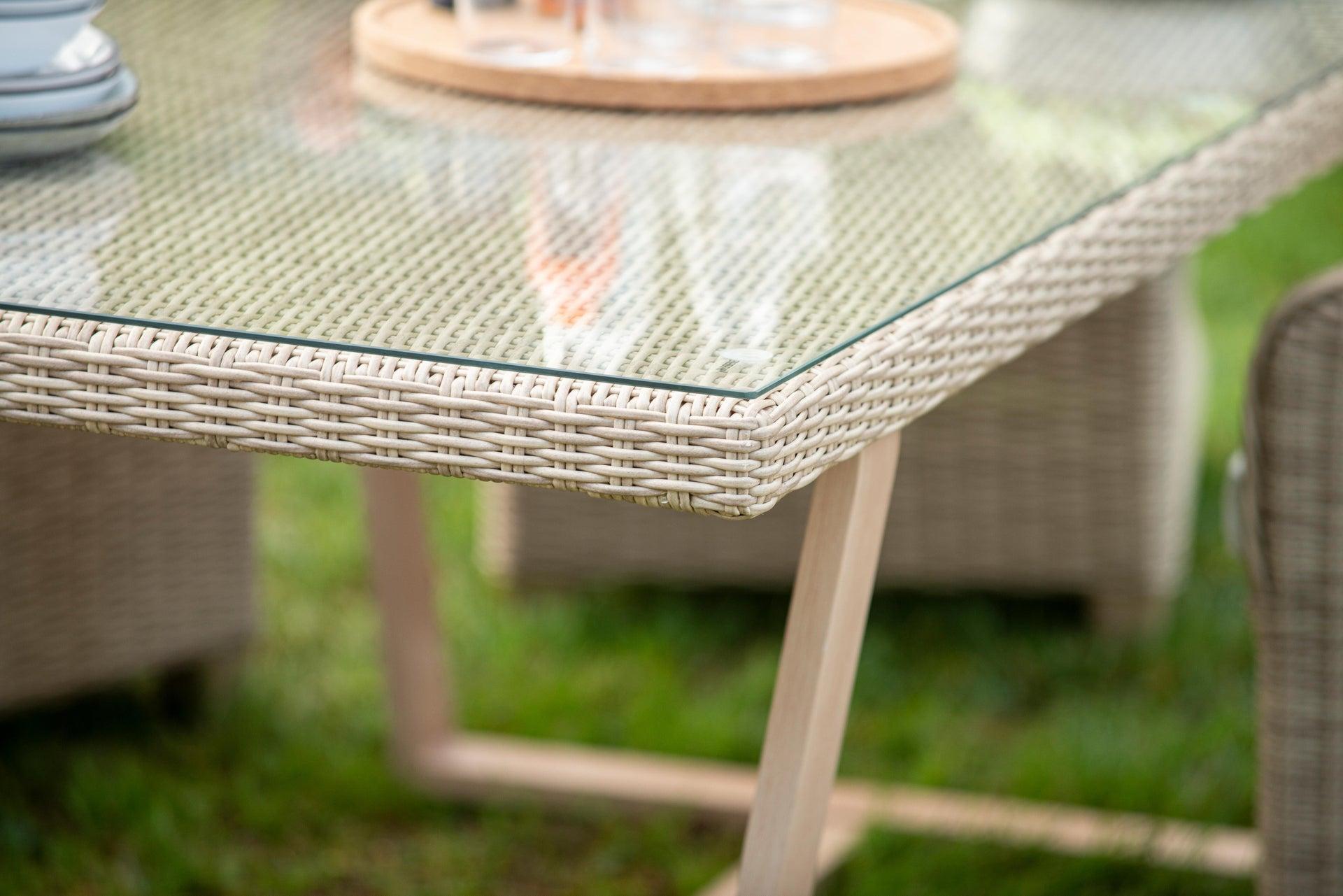 Poltrona da giardino con cuscino in alluminio Medena NATERIAL colore naturale - 8