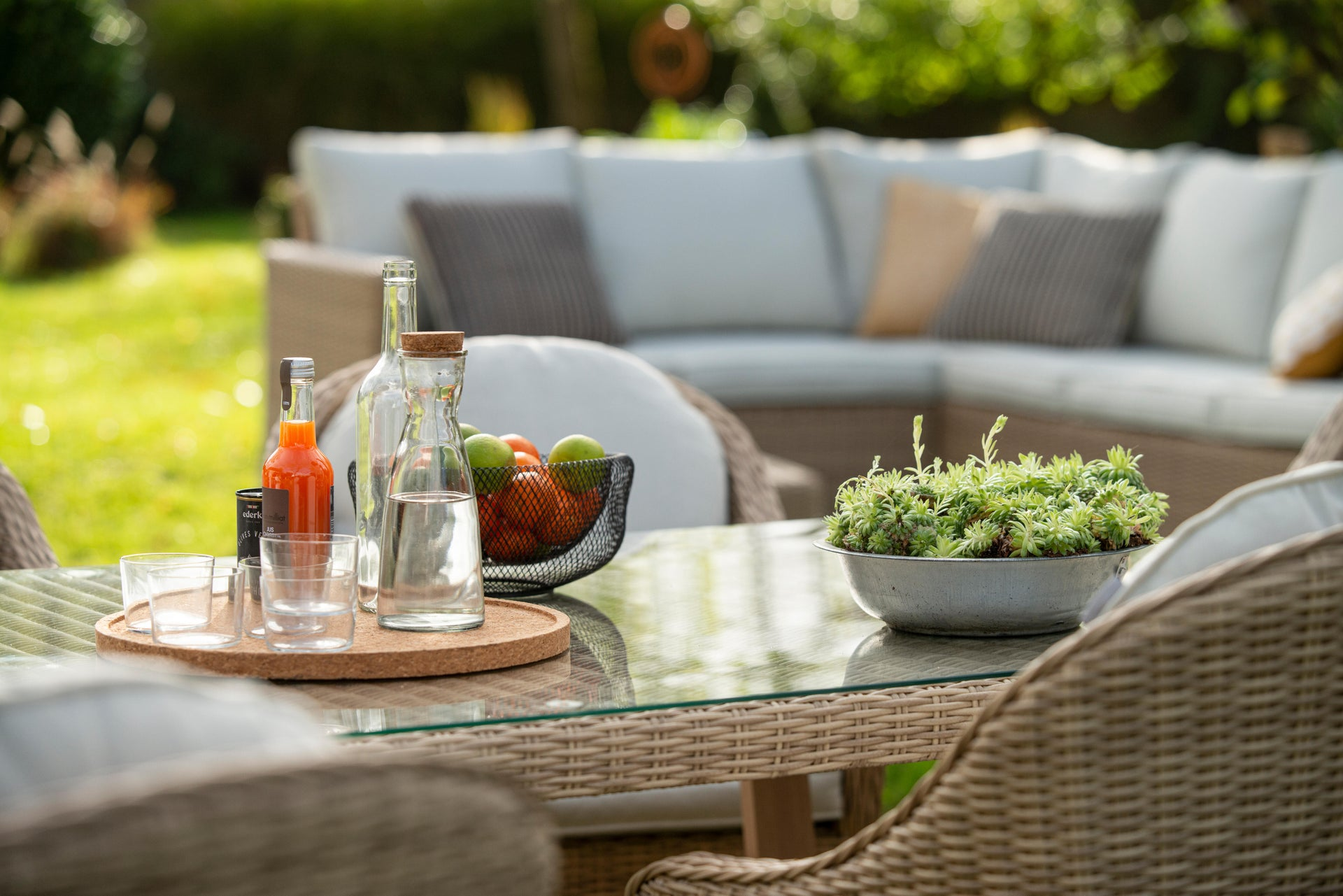 Poltrona da giardino con cuscino in alluminio Medena NATERIAL colore naturale - 2