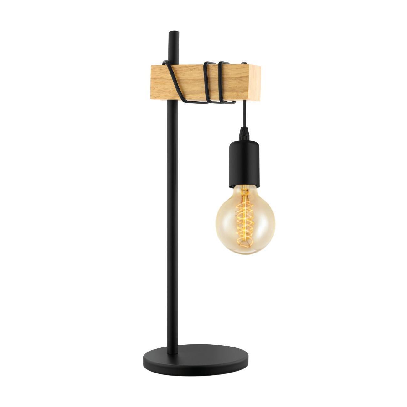 Lampada da tavolo Scandinavo Townshend nero , in metallo, EGLO - 4