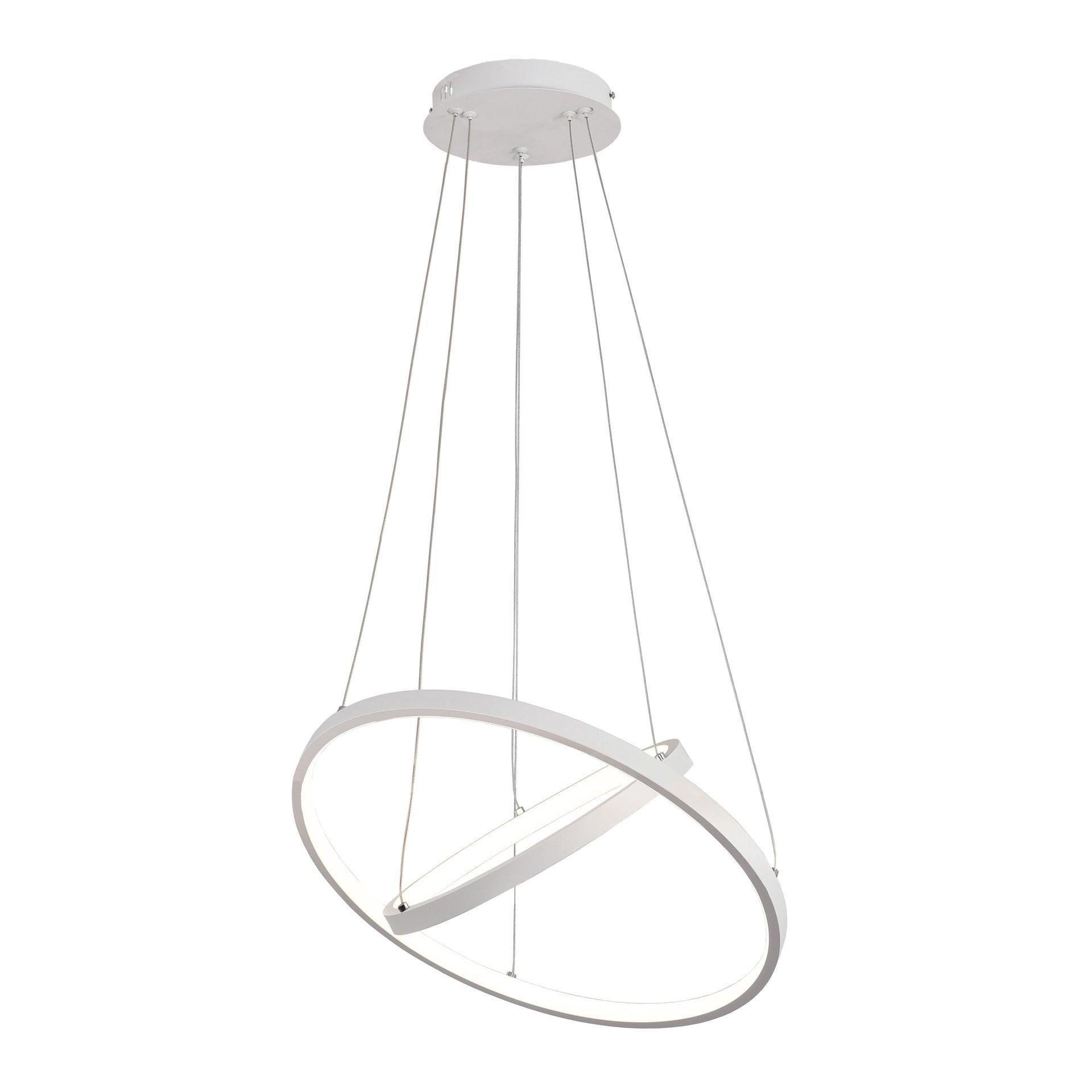 Lampadario Moderno Planetaria LED integrato bianco, in alluminio, D. 45 cm - 3