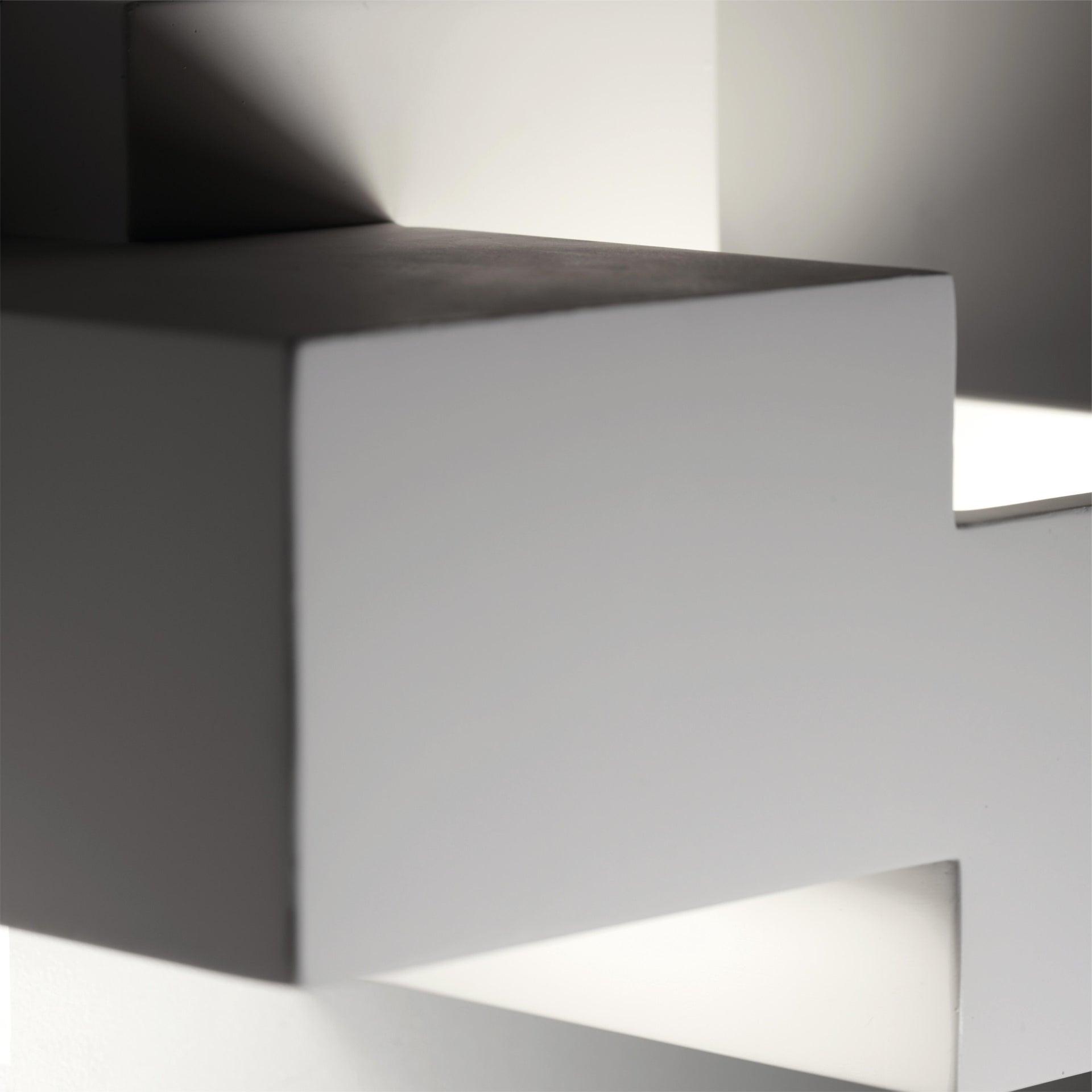 Applique SIDE SMALL bianco, in gesso, 2 luci - 5