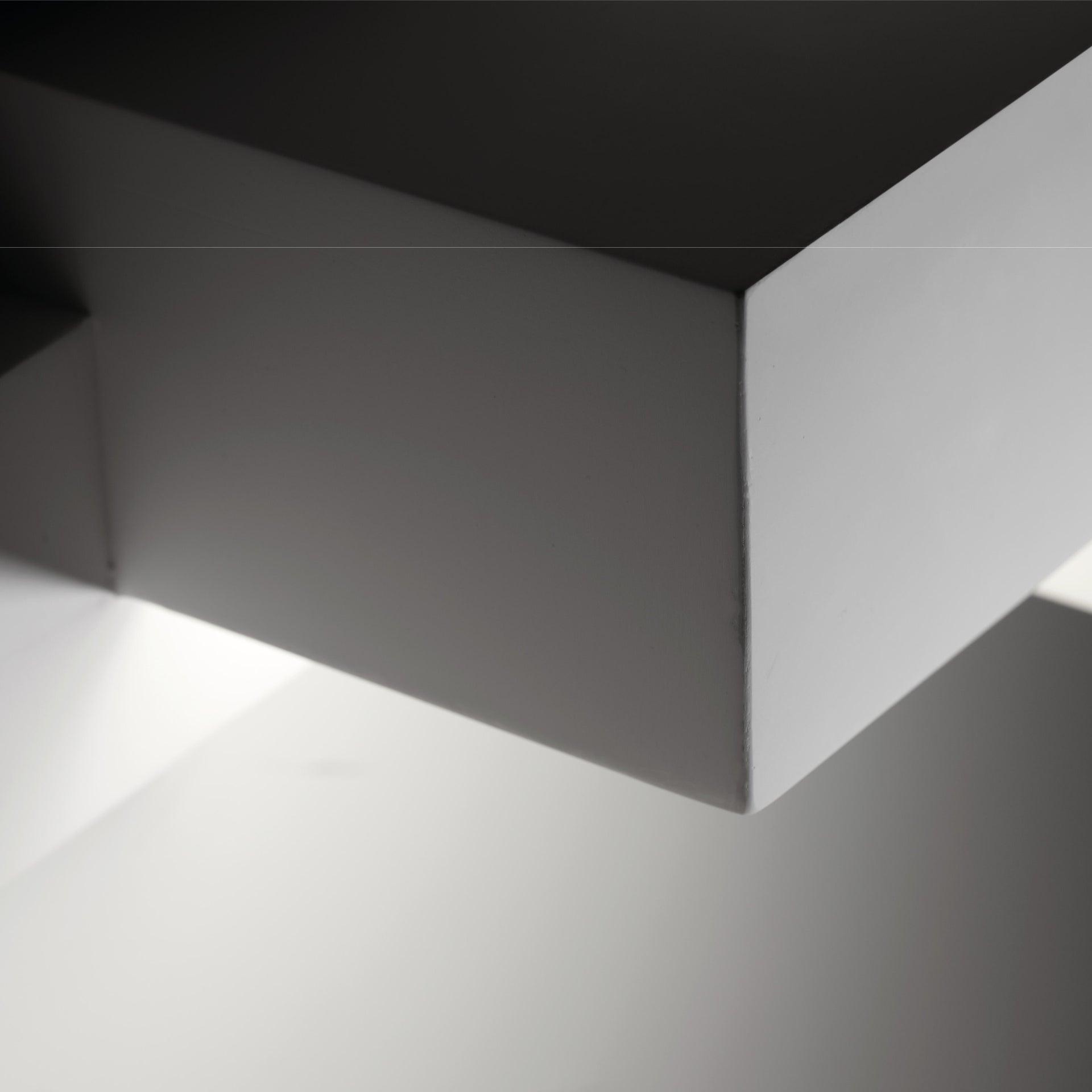 Applique SIDE SMALL bianco, in gesso, 2 luci - 10