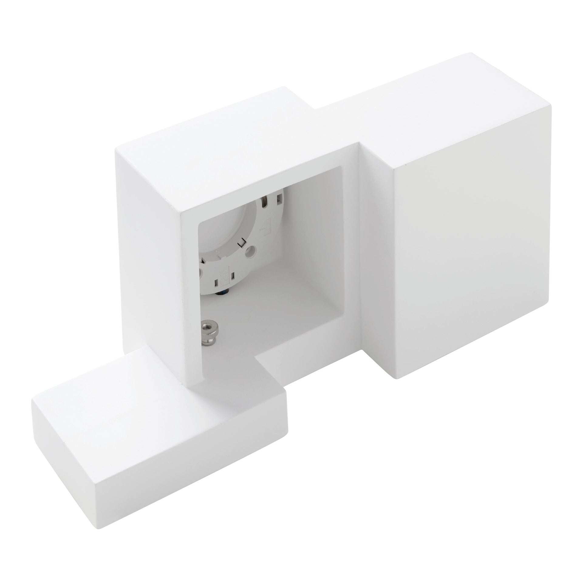 Applique SIDE SMALL bianco, in gesso, 2 luci - 13