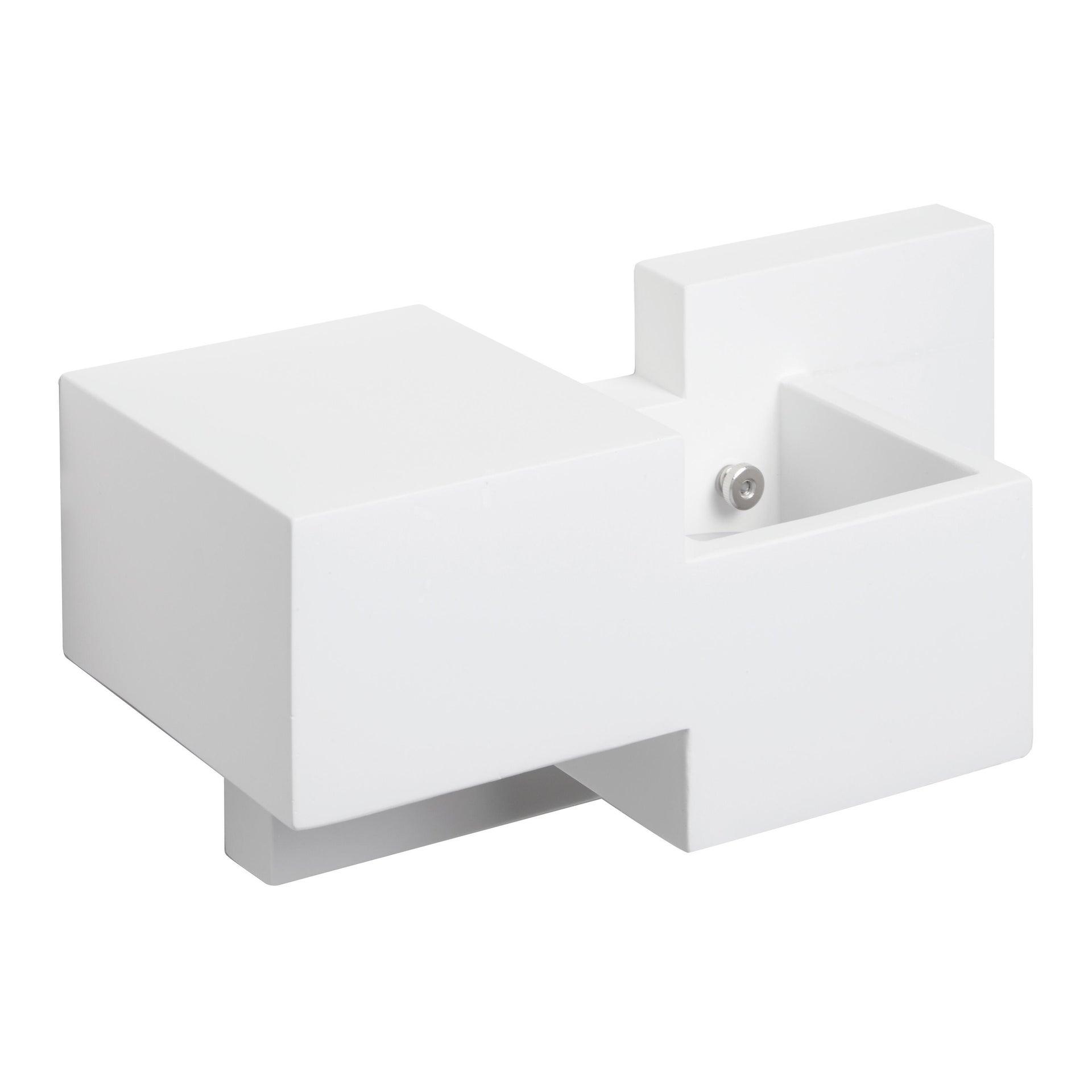 Applique SIDE SMALL bianco, in gesso, 2 luci - 11