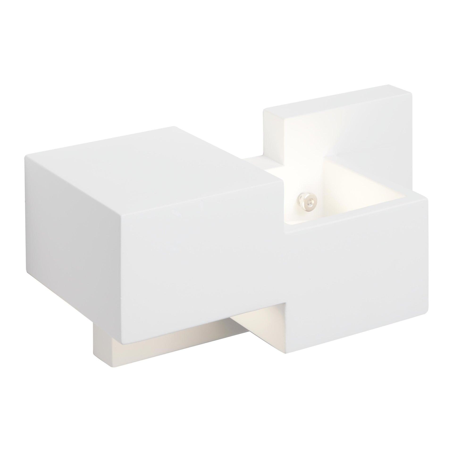 Applique SIDE SMALL bianco, in gesso, 2 luci - 4