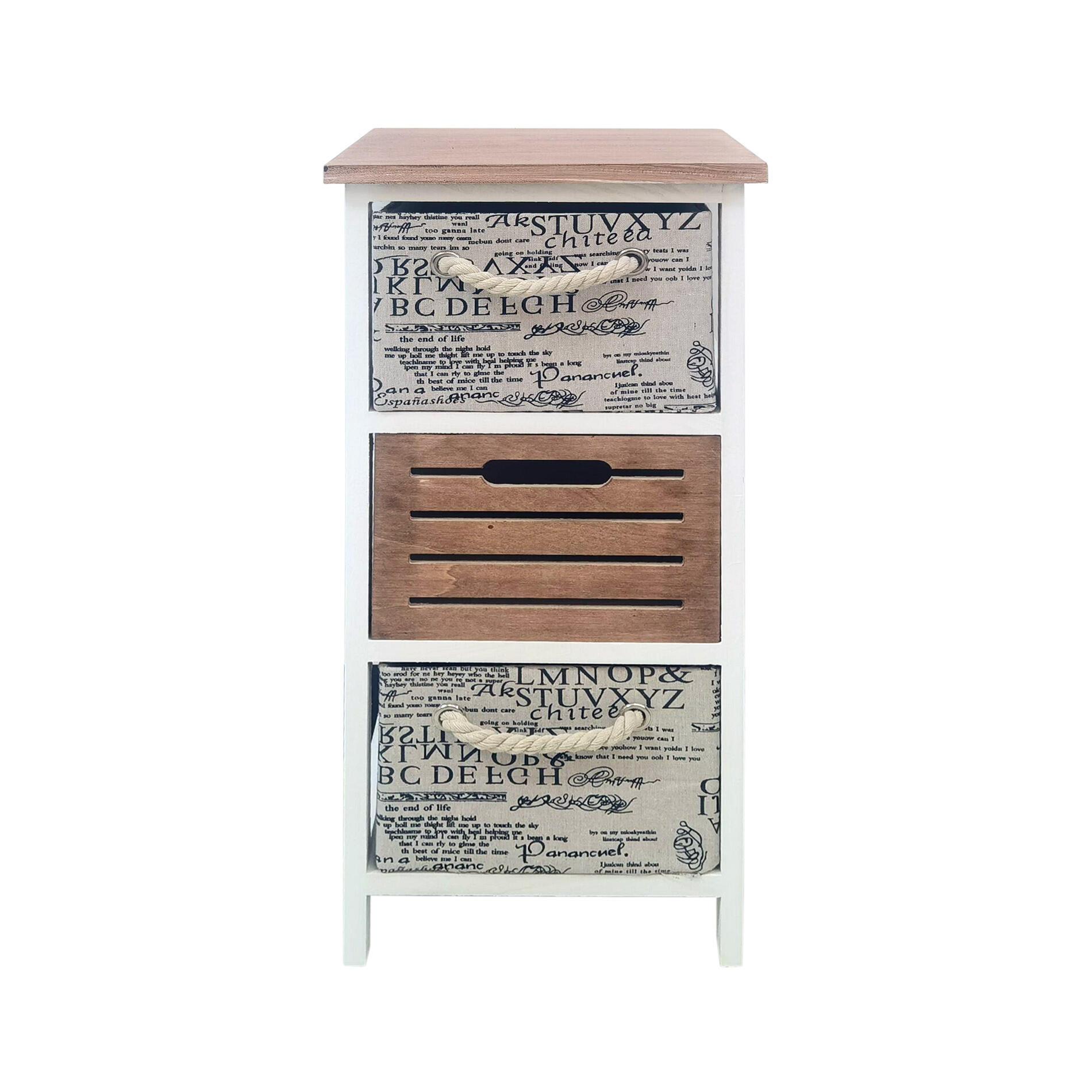 Comodino 3 cassetti L 30 x P 30 x H 64 cm multicolor - 6