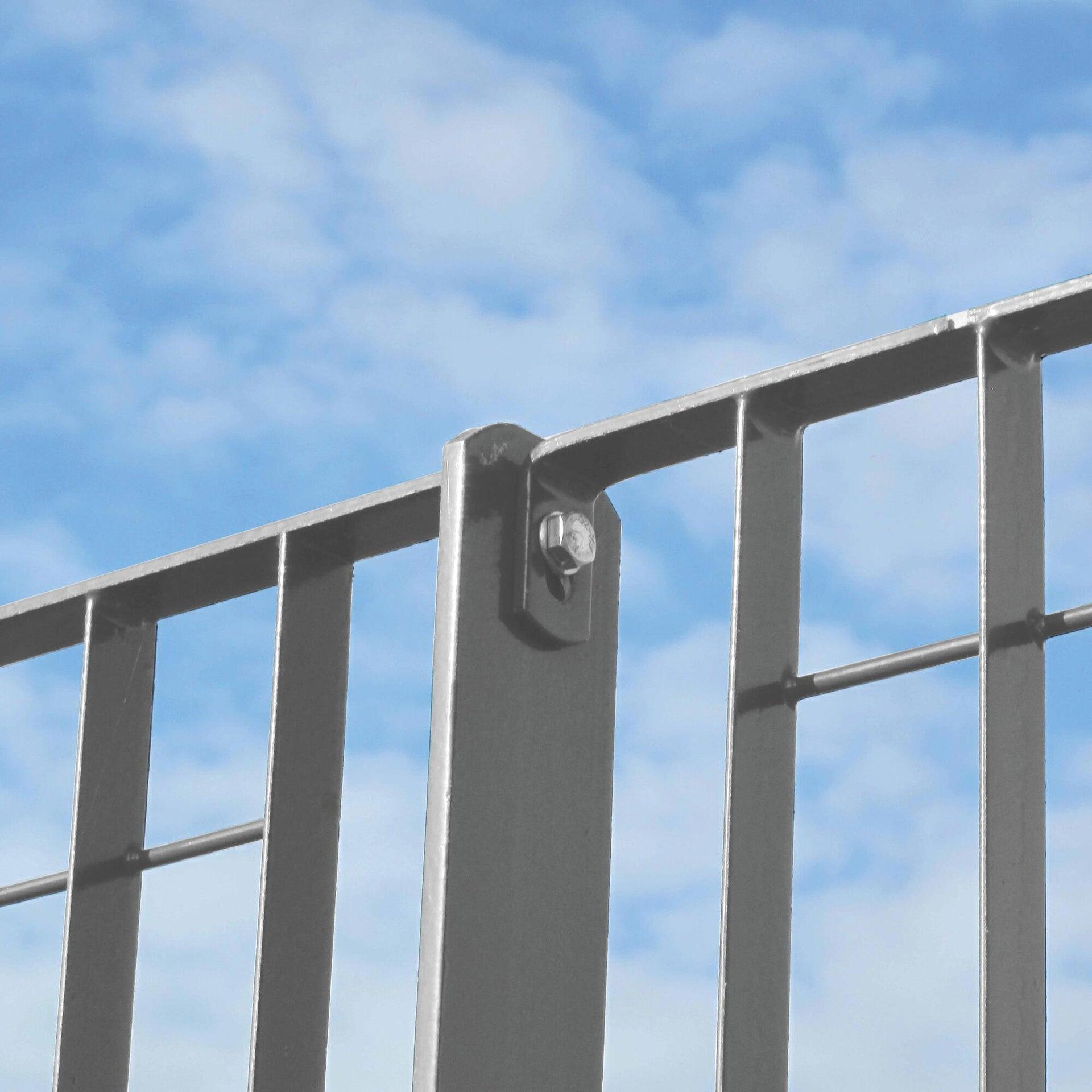 Palo in acciaio rettangolare H 100 cm 6 cm - 4