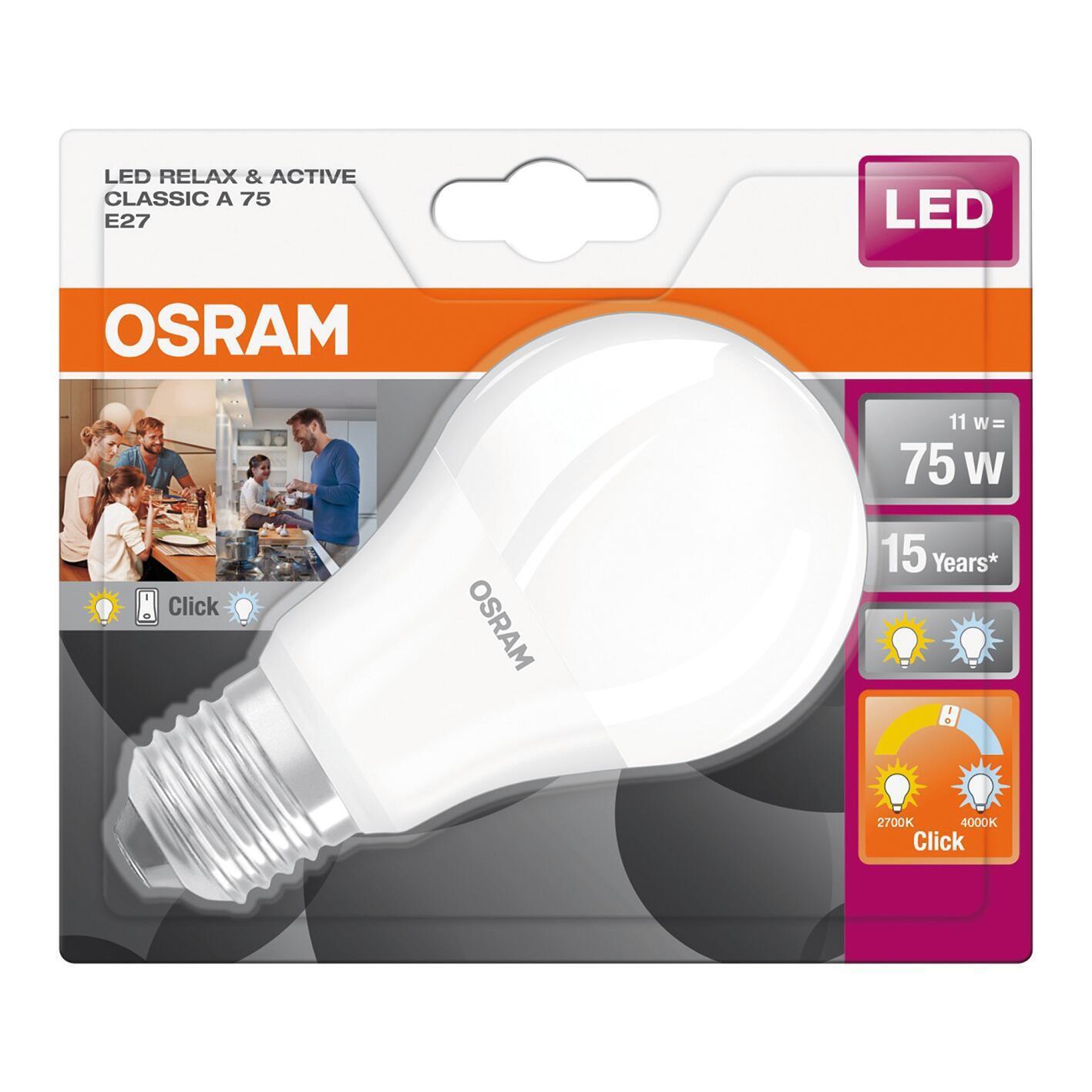 Lampadina LED, E27, Goccia, Opaco, CCT, 11W=1060LM (equiv 75 W), 200° , OSRAM - 2