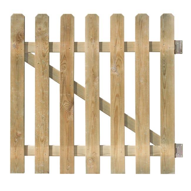 Cancello / portello FOREST STYLE CANCELLETTO MUSTANG 100X100CM in legno L 1 x H 1 m - 1