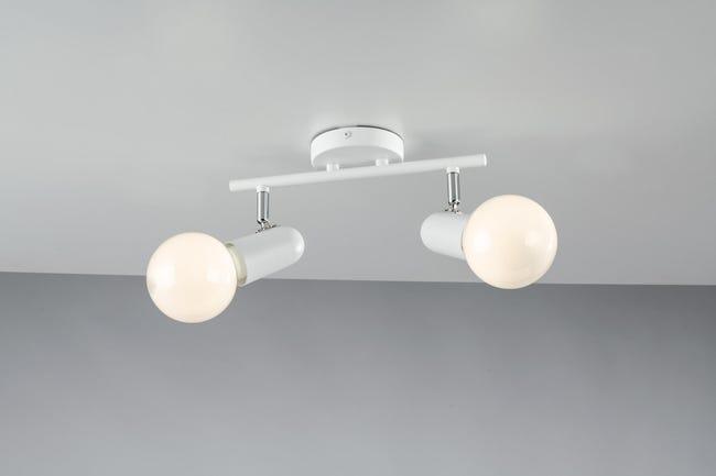 Faretto Punto bianco, in metallo, E27 2xIP20 - 1