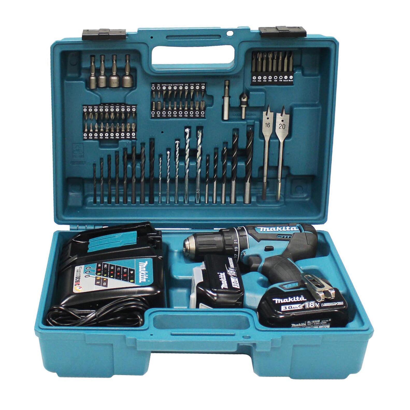 Trapano a percussione a batteria MAKITA DHP482RFX1 18 V, 3 Ah, 2 batterie - 2