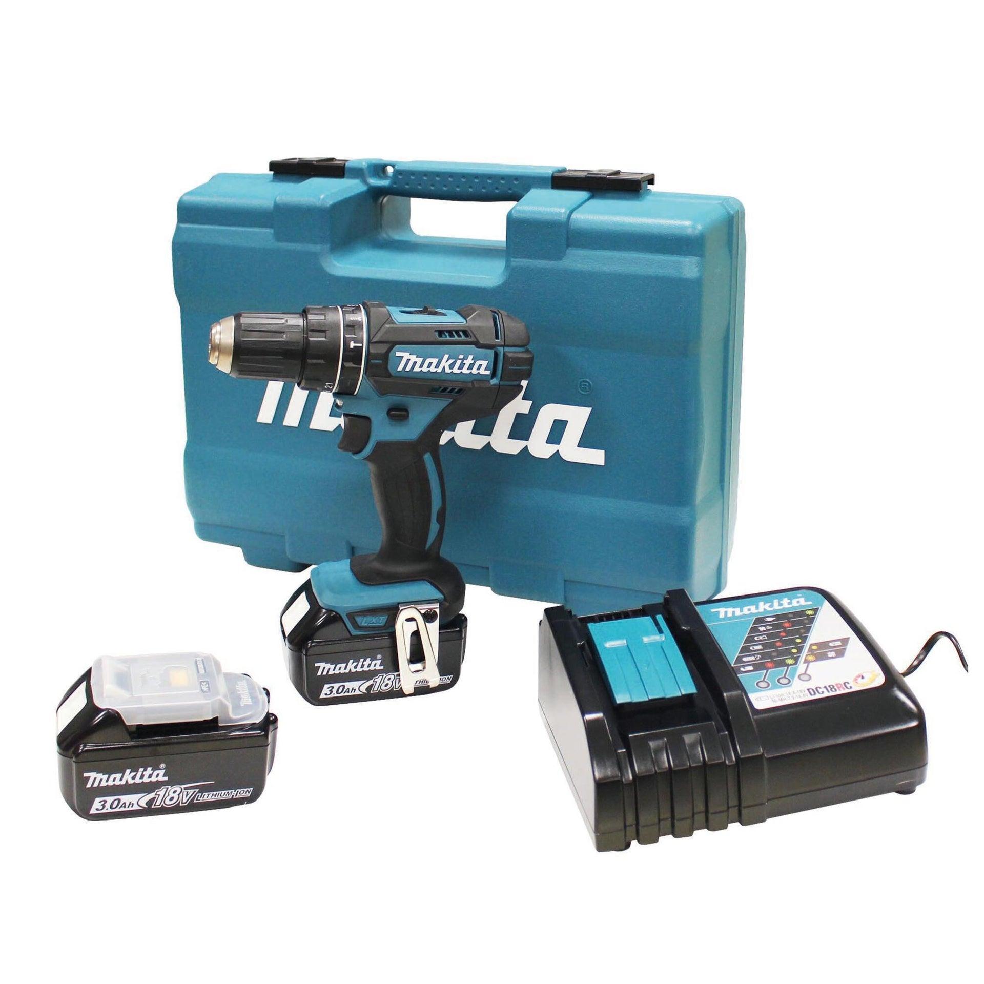 Trapano a percussione a batteria MAKITA DHP482RFX1 18 V, 3 Ah, 2 batterie - 1