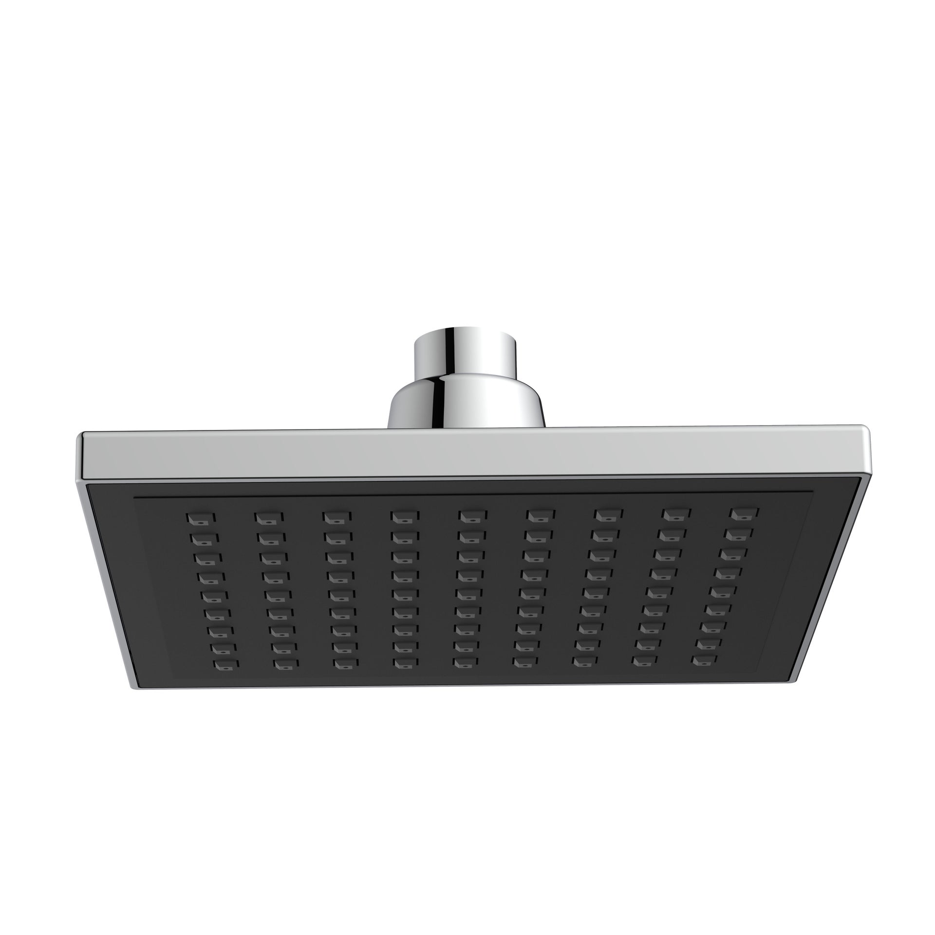 Soffione doccia Square 15 x 15 cm in abs argento - nero cromato