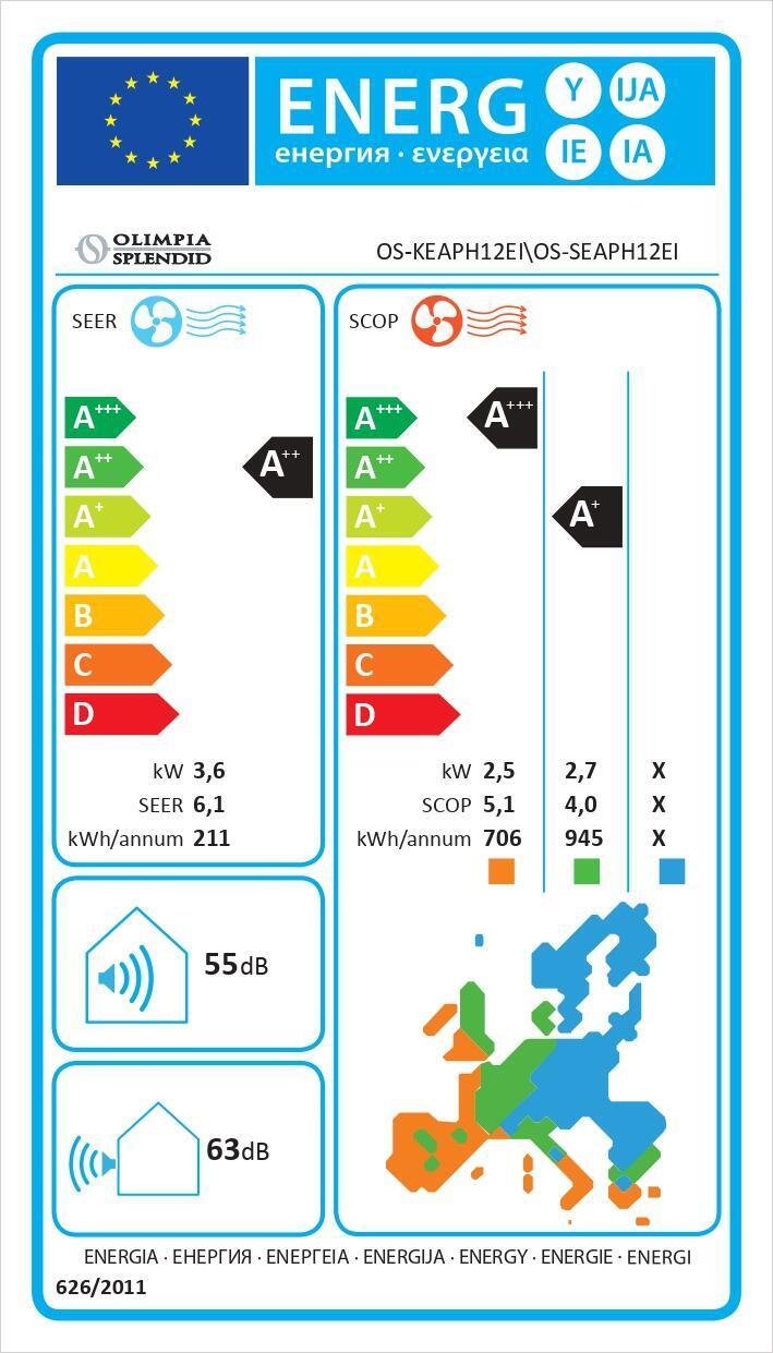 Climatizzatore monosplit OLIMPIA SPLENDID Aryal 11942 BTU - 5