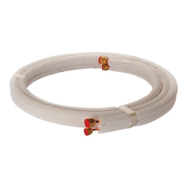 Tubo di rame isolato in kit 1/4 + 3/8 sp. 1 mm 3 m x 300 cm - 1