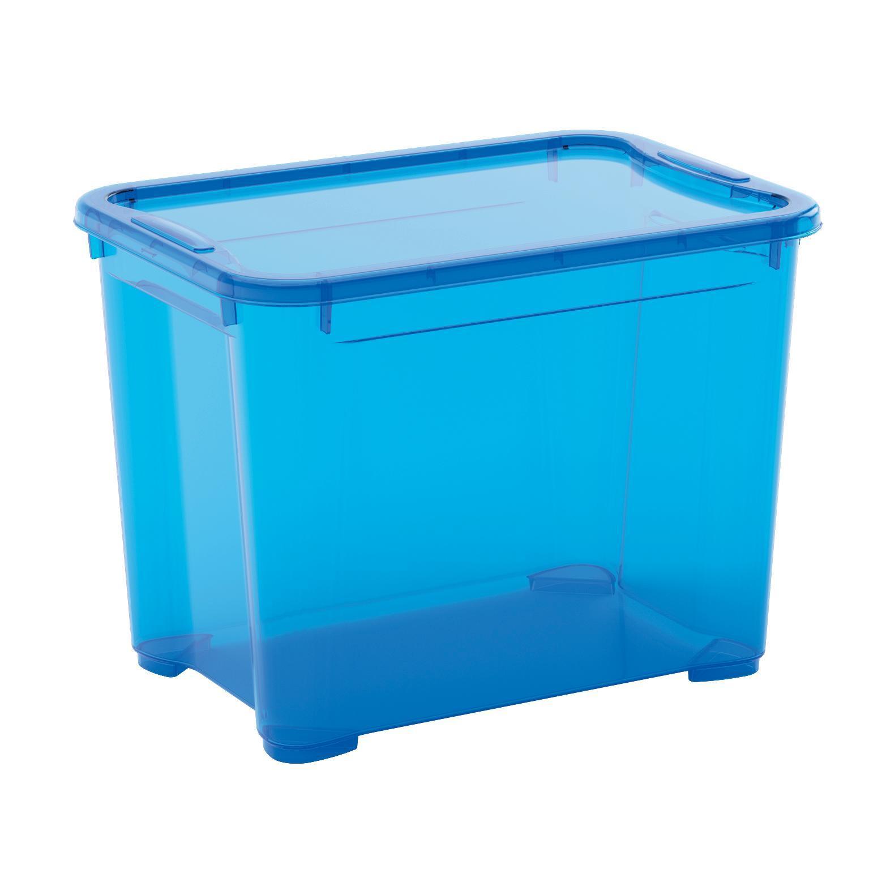 Contenitore T-box L 38 x H 28.5 x P 26.5 cm azzurro - 1