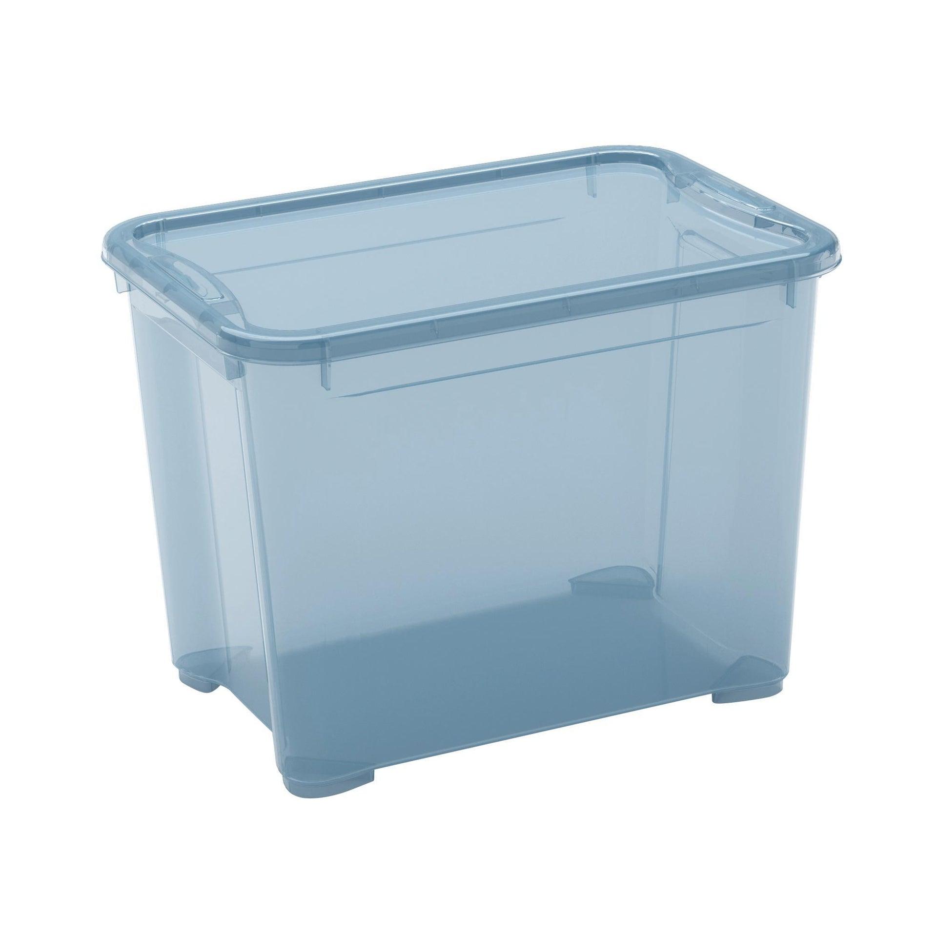 Contenitore T-box L 38 x H 28.5 x P 26.5 cm azzurro - 2