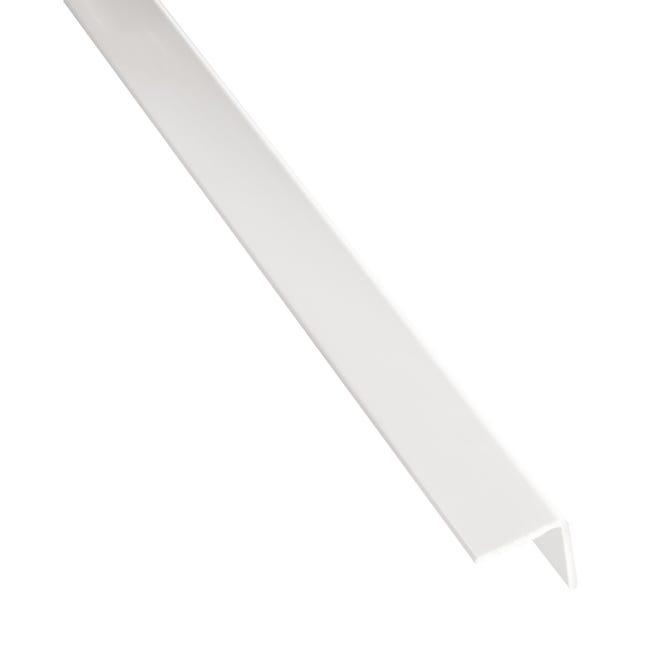 Profilo angolare simmetrico STANDERS in pvc 2.6 m x 5.2 cm bianco - 1