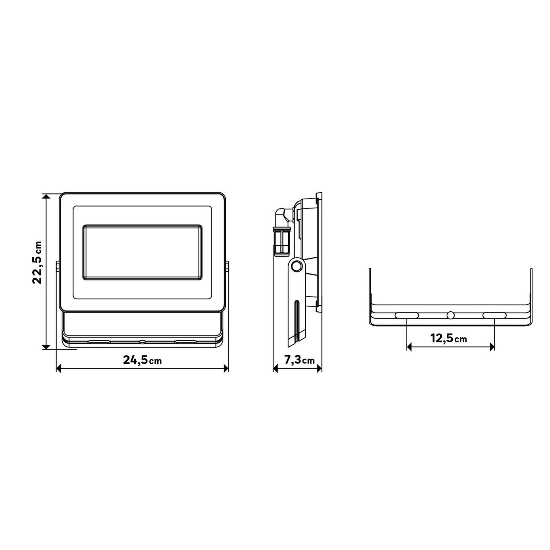 Proiettore LED integrato Yonkers in alluminio, antracite, 100W 6500LM IP65 INSPIRE - 7