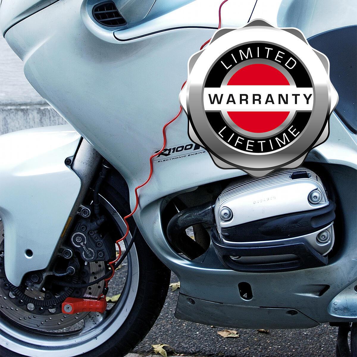 Blocca disco per moto con chiave MASTER LOCK 8304EURDPS rosso - 3