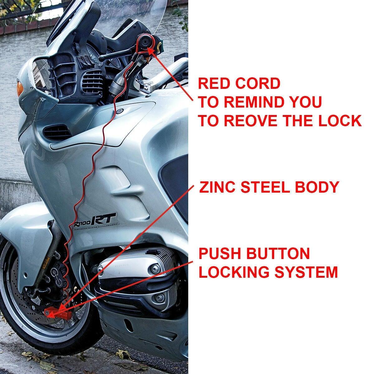 Blocca disco per moto con chiave MASTER LOCK 8304EURDPS rosso - 5