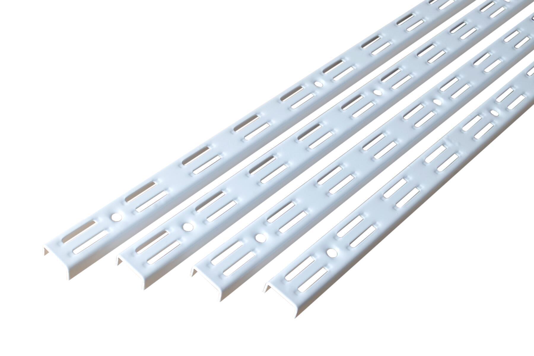 Cremagliera doppia Spaceo H 200 x L 0.62 cm, Sp 1.5 mm bianco - 2