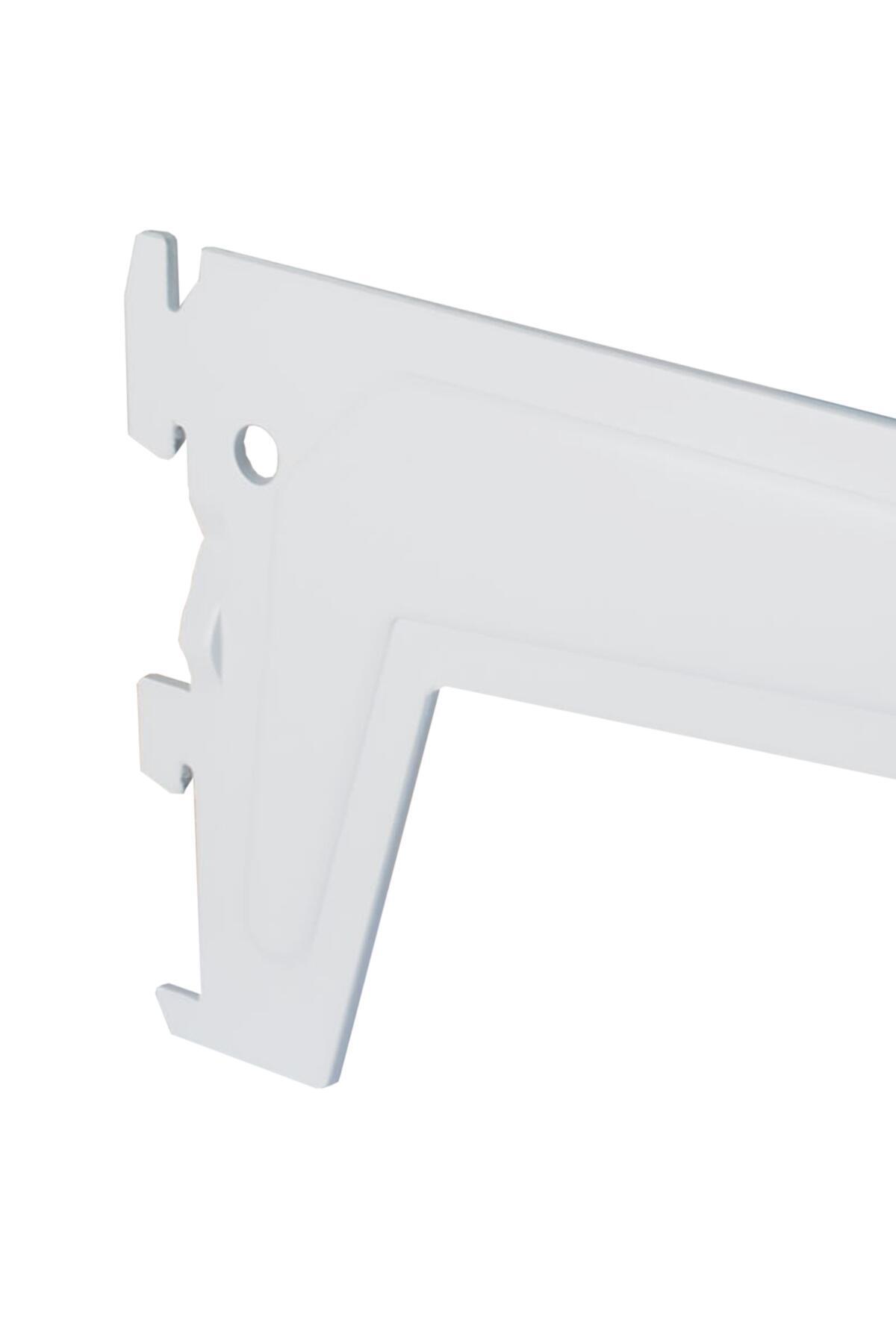 Supporto per cremagliera semplice Spaceo L 51.7 x H 12.0 x P 50.0 cm bianco - 2