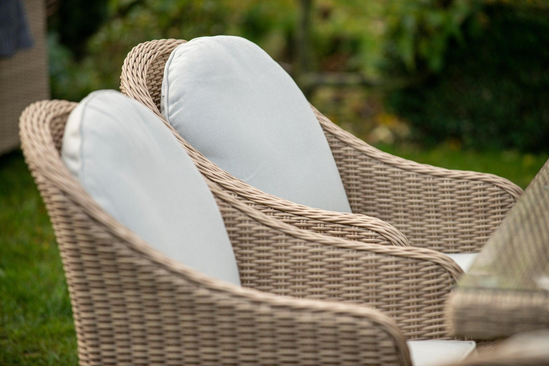 Poltrona da giardino con cuscino in alluminio Medena NATERIAL colore naturale - 7