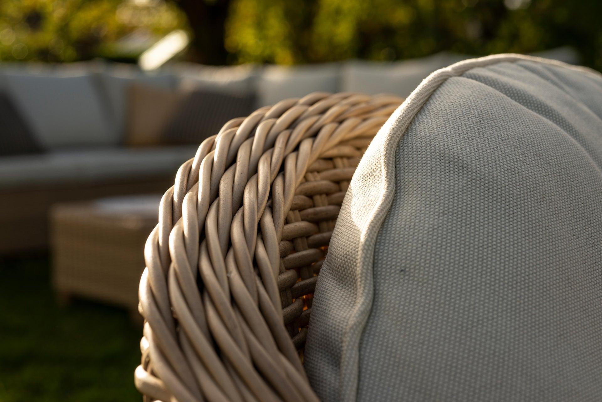 Poltrona da giardino con cuscino in alluminio Medena NATERIAL colore naturale - 4