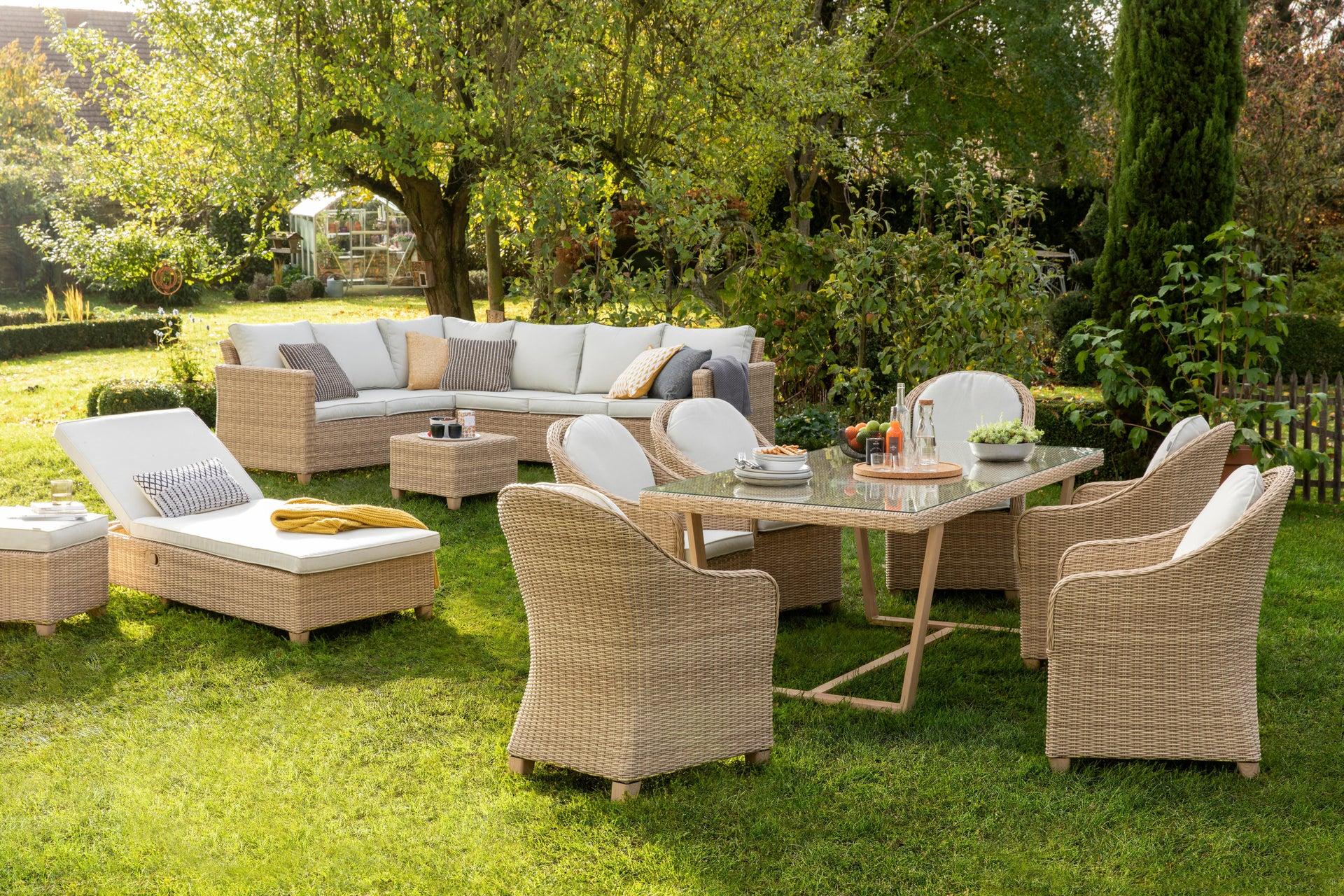 Poltrona da giardino con cuscino in alluminio Medena NATERIAL colore naturale - 13