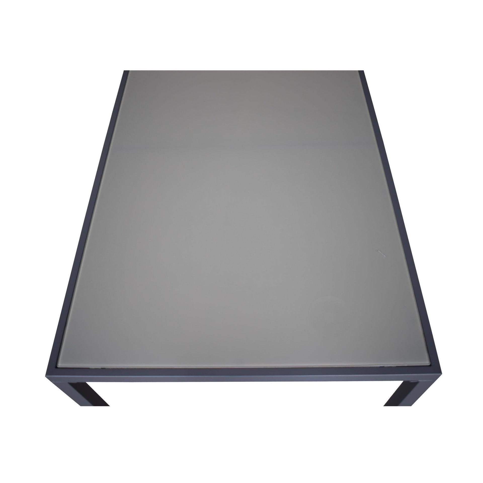 Tavolo da giardino rettangolare con piano in metallo L 90 x P 150 cm - 2