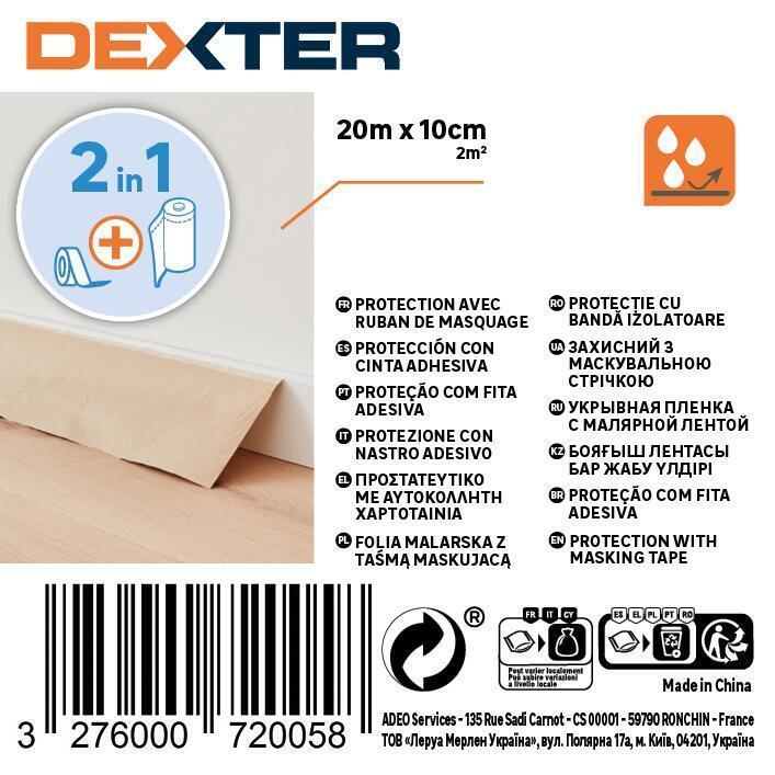 Carta per protezione vernice DEXTER 20 X 0.1 m marrone - 2