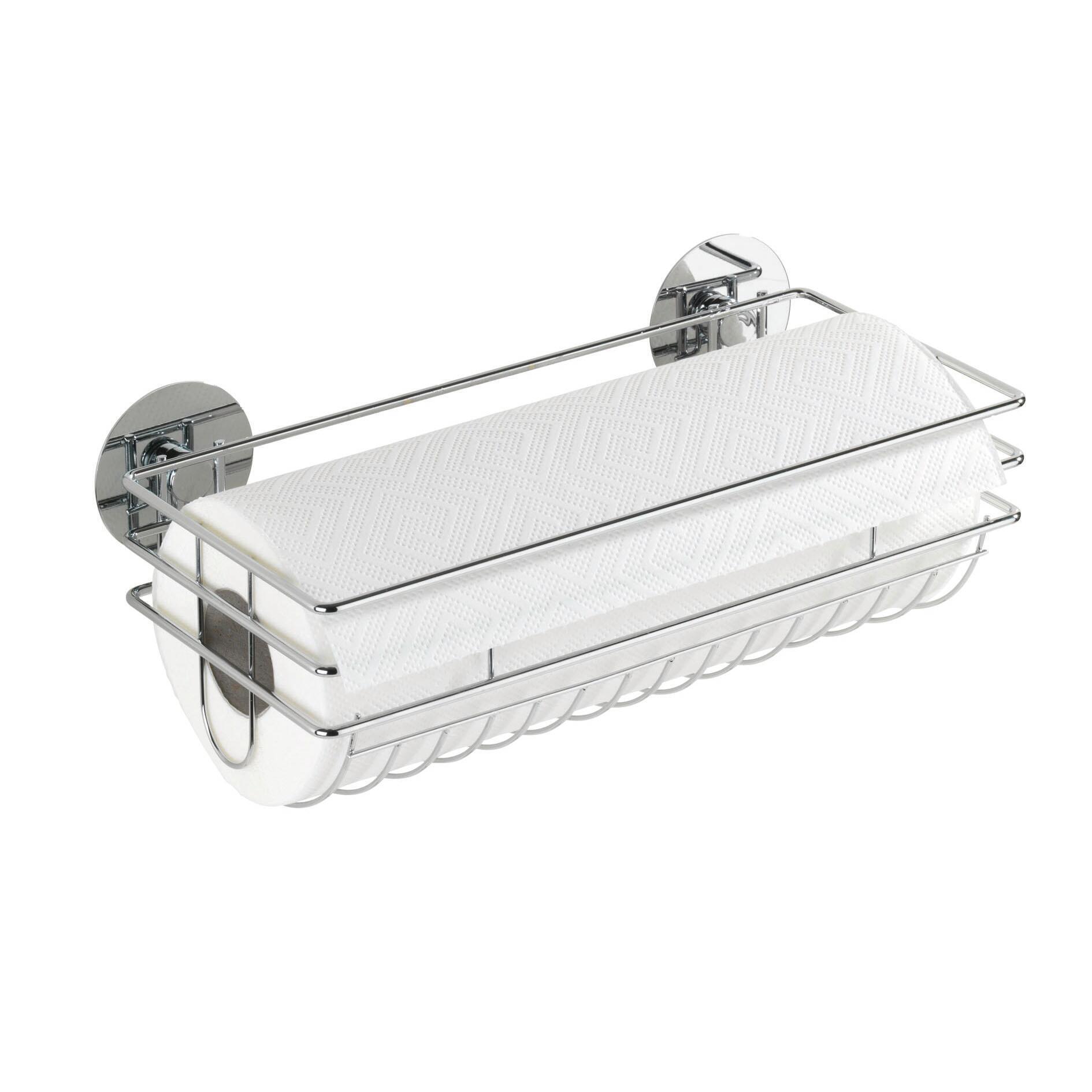 Porta rotolo carta assorbente silicone WENKO Turbo-Loc in metallo - 2