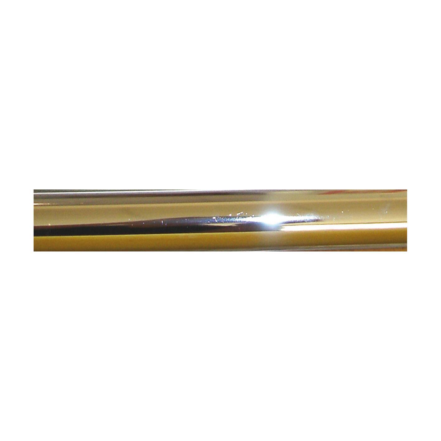 Bastone per tenda Agra in metallo Ø 28 mm ottone lucido 150 cm - 1