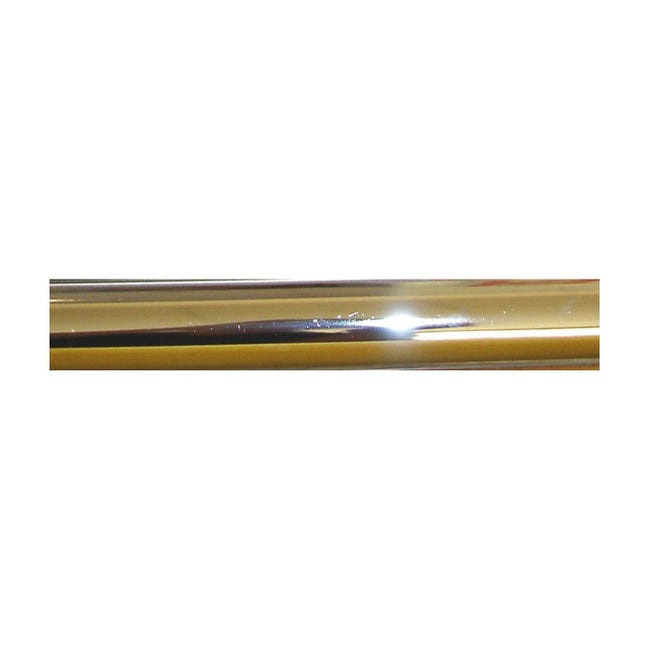 Bastone per tenda Agra in metallo Ø 28 mm ottone lucido 240 cm - 1