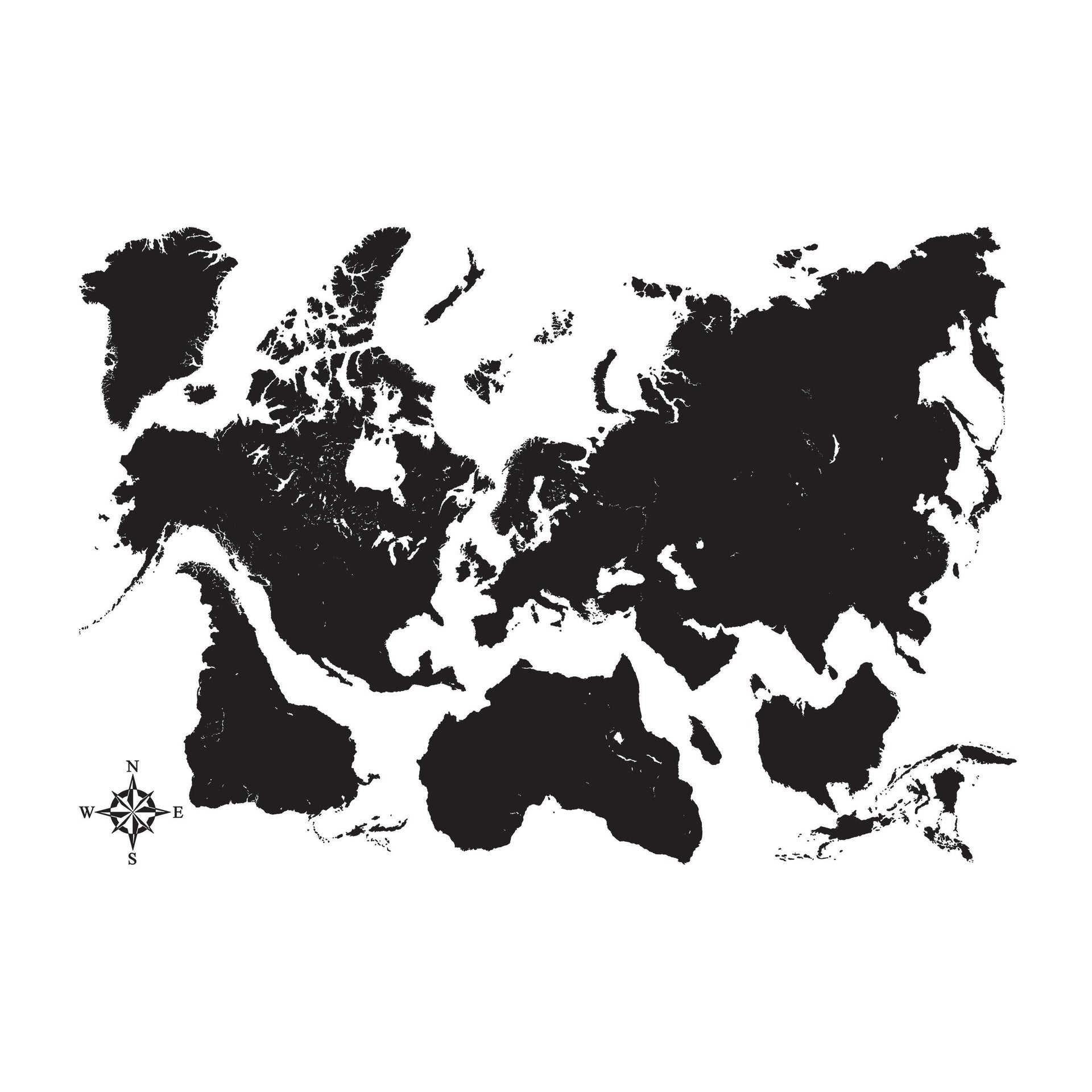 Sticker Mappa Nera 47x67 cm - 2