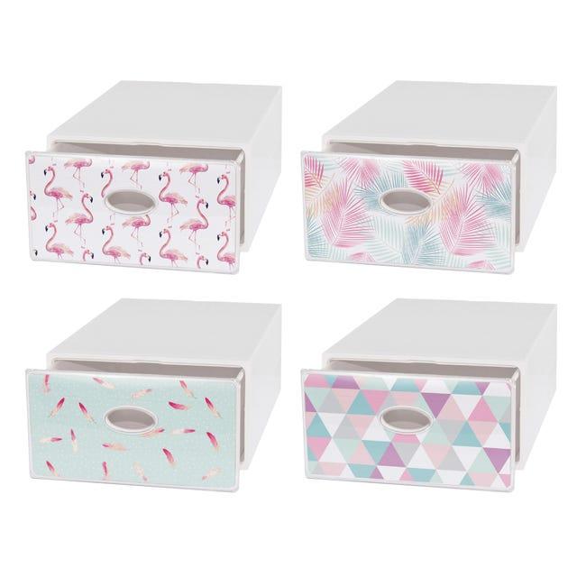 Cassettiera Qbox L 40 x P 15 x H 28 cm bianco - 1