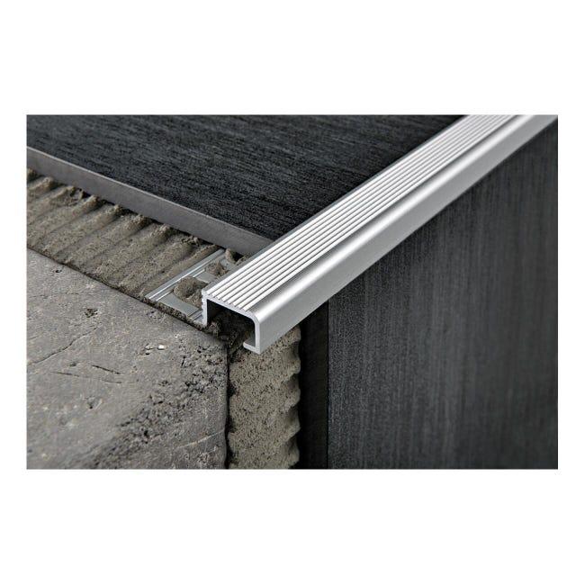 Giunto di dilatazione e frazionamento in alluminio Probrastep Sp 11 mm L 270 cm grigio - 1