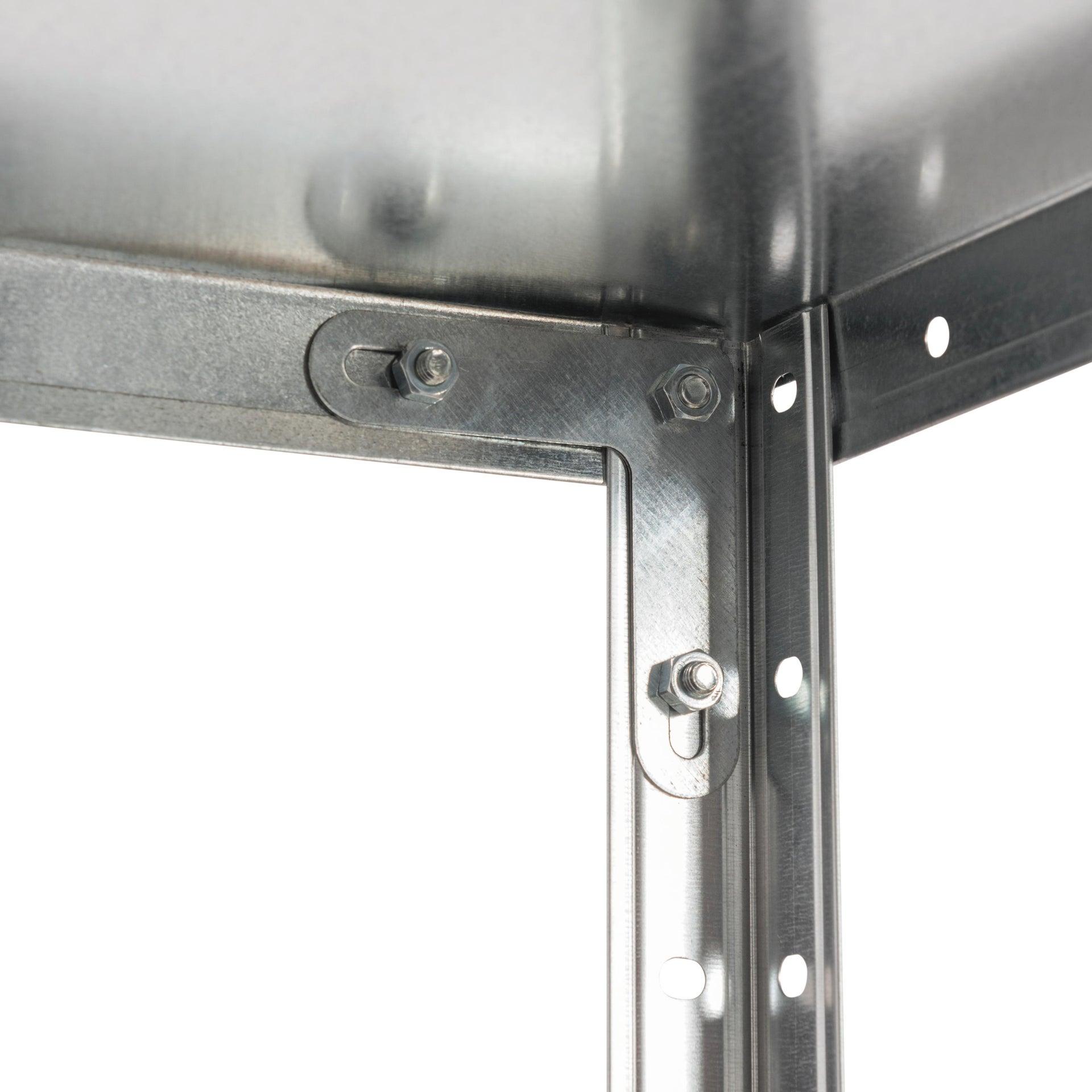 Scaffale in metallo in kit Bull L 72.5 x P 30 x H 145 cm grigio - 6