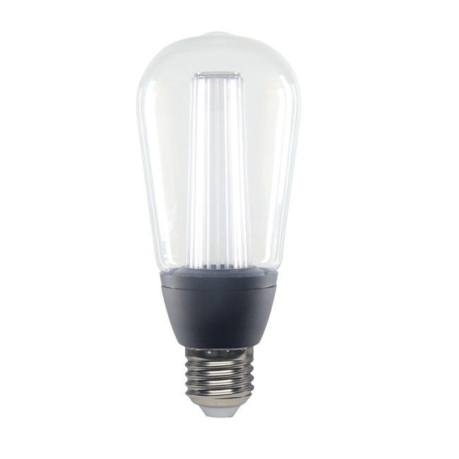 Lampadina LED, E27, Goccia, Trasparente, CCT, 6W=470LM (equiv 40 W), 150° , LEXMAN - 1