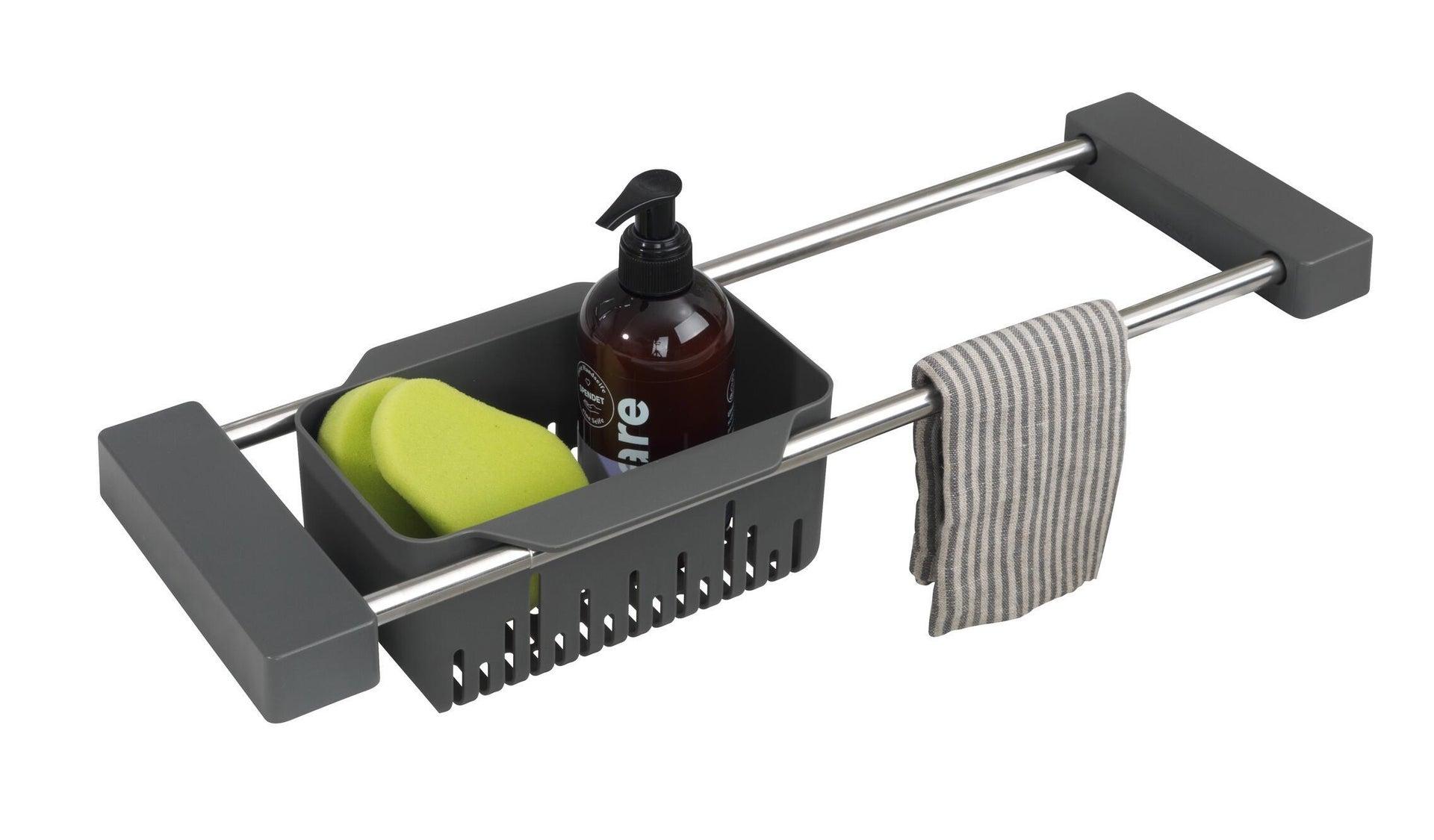 Vaschetta portaoggetti per lavello Cami per lavello grigio L 77.5 x P 14 x H 8 cm - 10