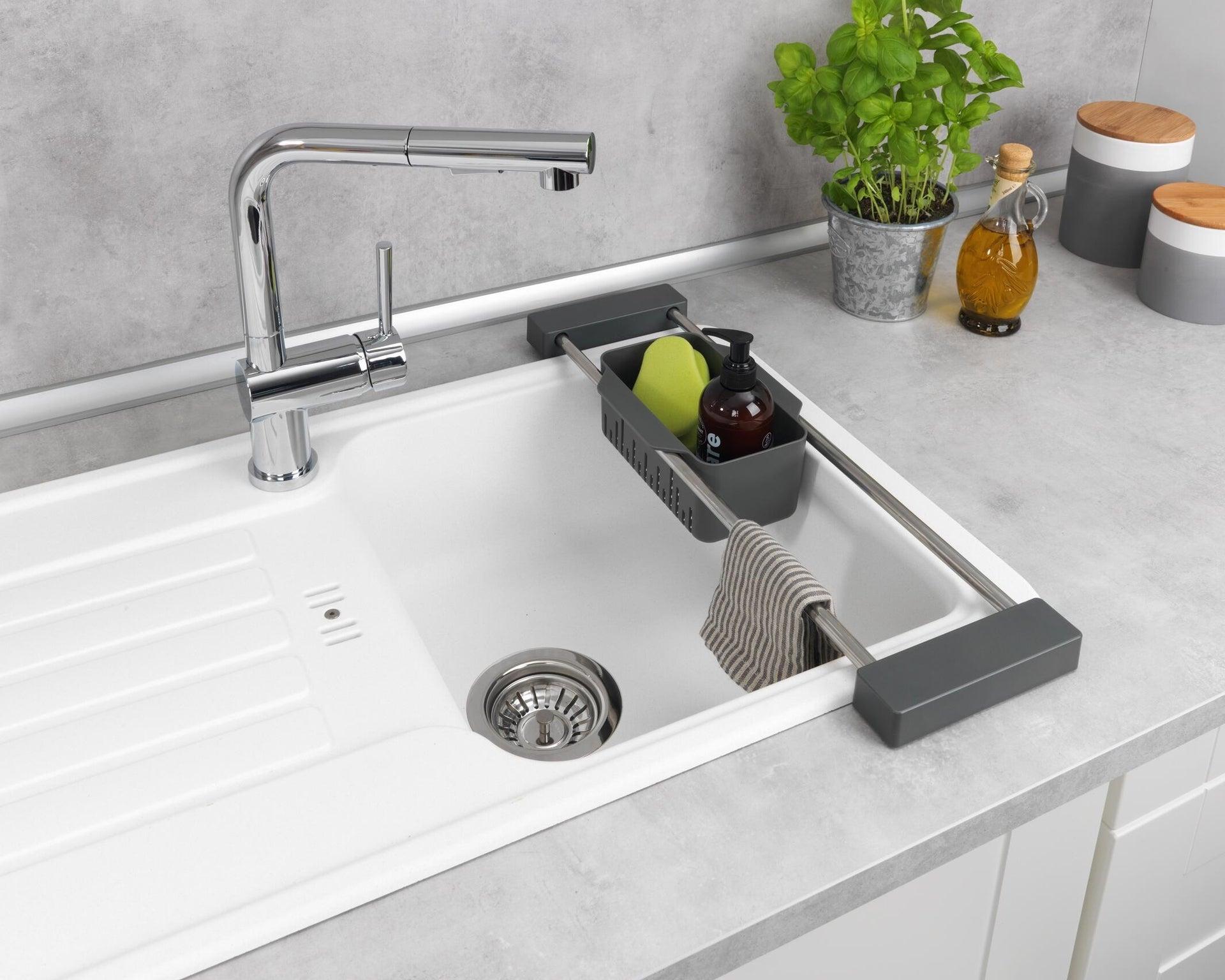 Vaschetta portaoggetti per lavello Cami per lavello grigio L 77.5 x P 14 x H 8 cm - 5