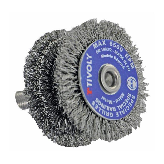 Spazzola per trapano TIVOLY in acciaio Ø 60 mm - 1