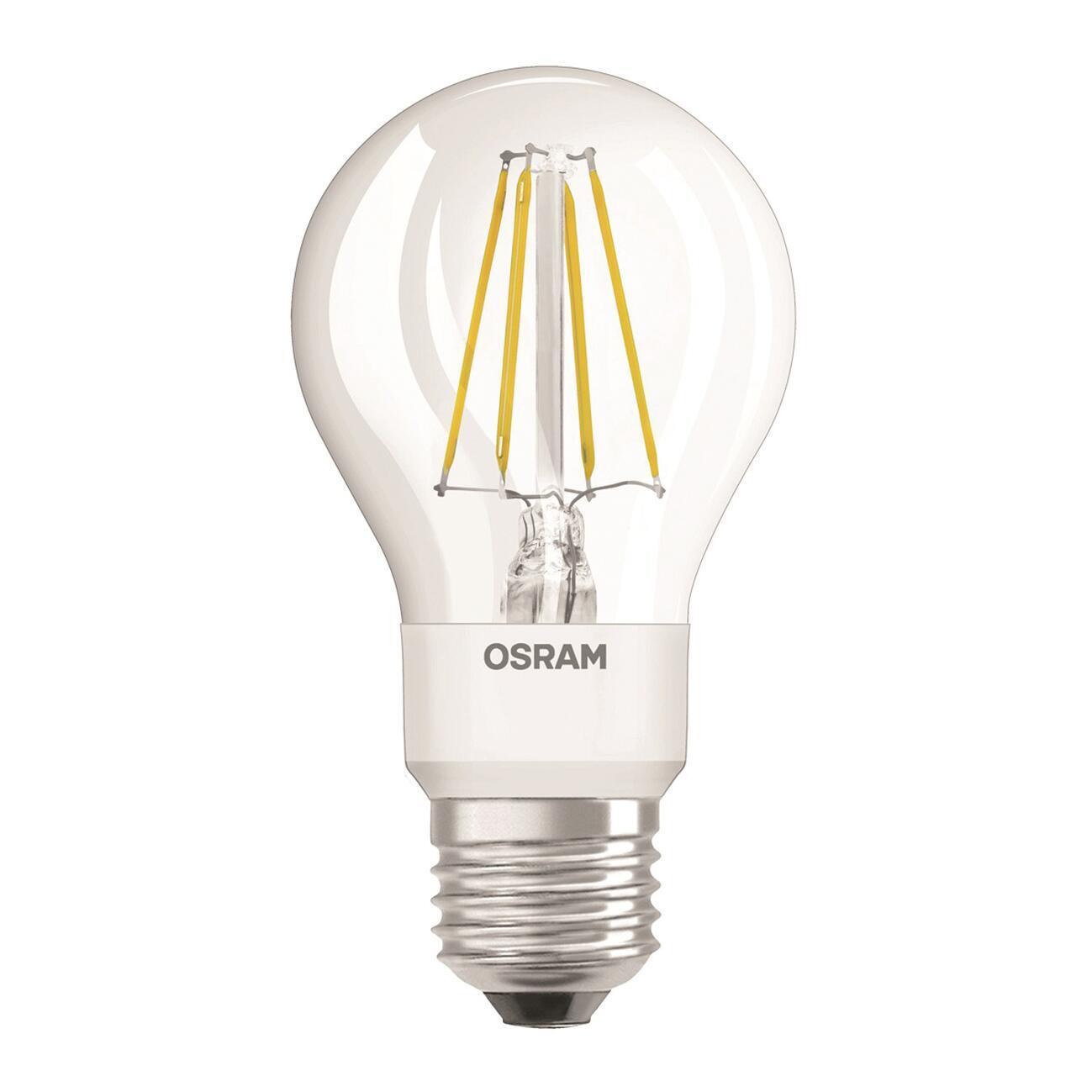 Lampadina LED, E27, Goccia, Trasparente, Luce calda, 4.5W=470LM (equiv 40 W), 300° , OSRAM - 1