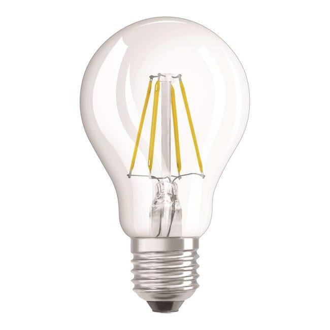 Lampadina LED filamento, E27, Goccia, Trasparente, Luce naturale, 4W=470LM (equiv 40 W), 320° , OSRAM - 1