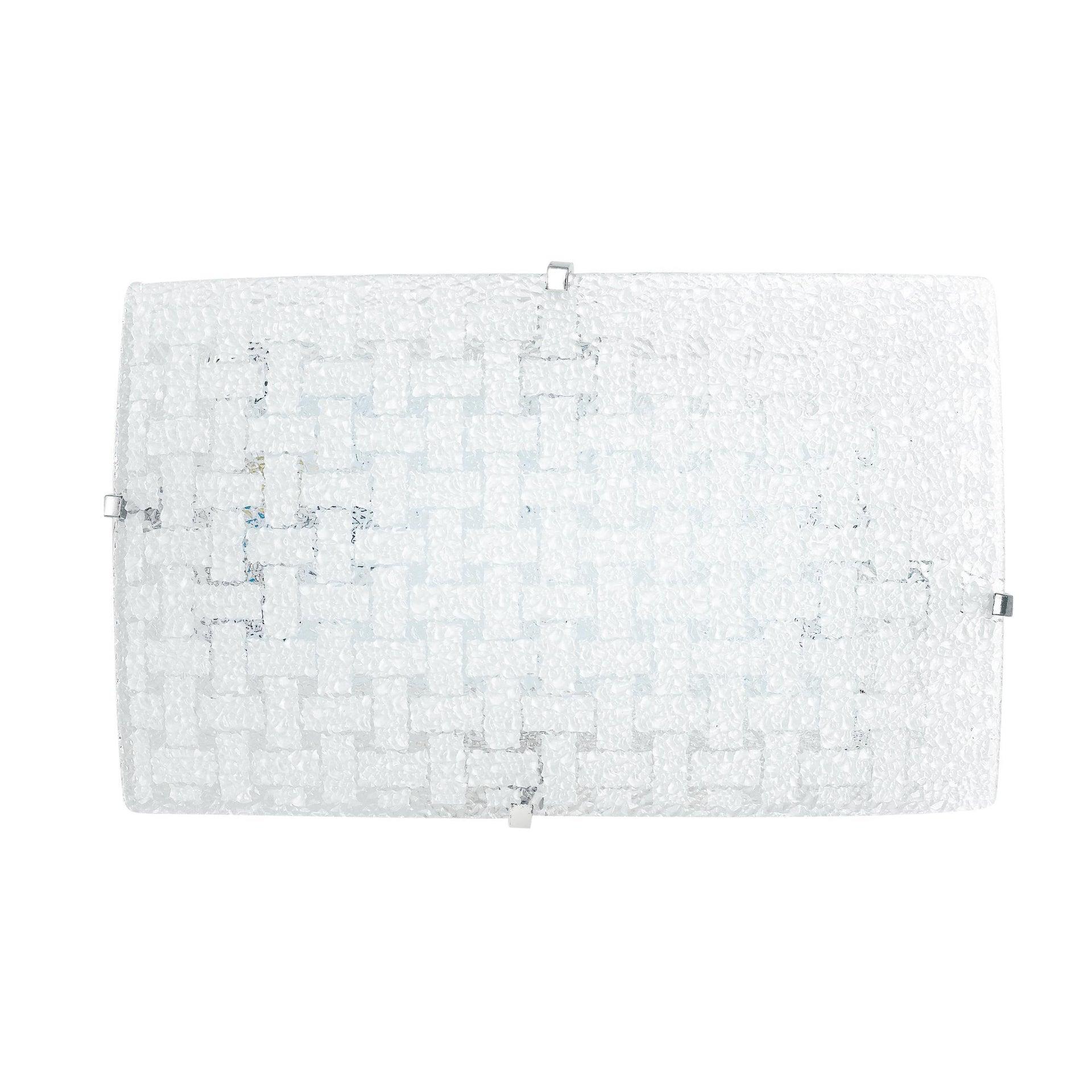 Applique classico Pamela LED integrato bianco, in acciaio inossidabile, 18x30 cm, LUCE AMBIENTE DESIGN - 1